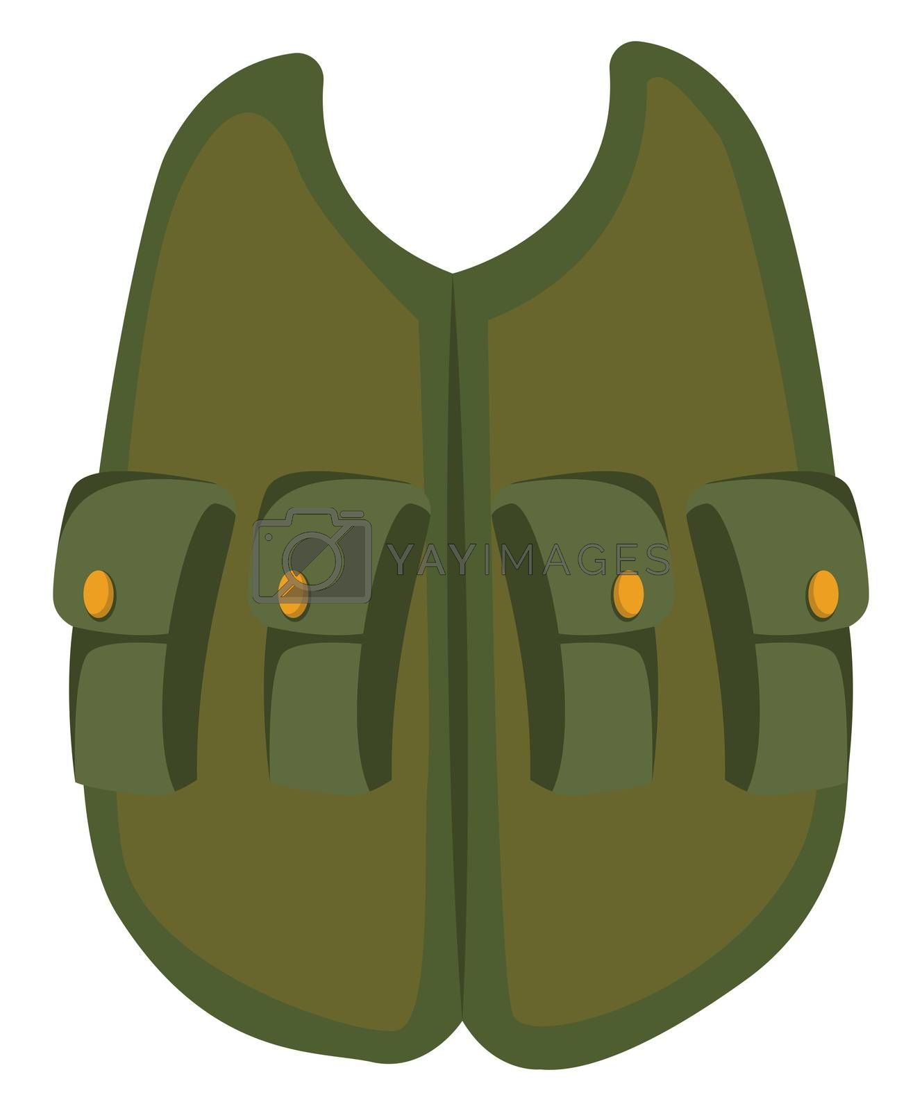 Military vest, illustration, vector on white background