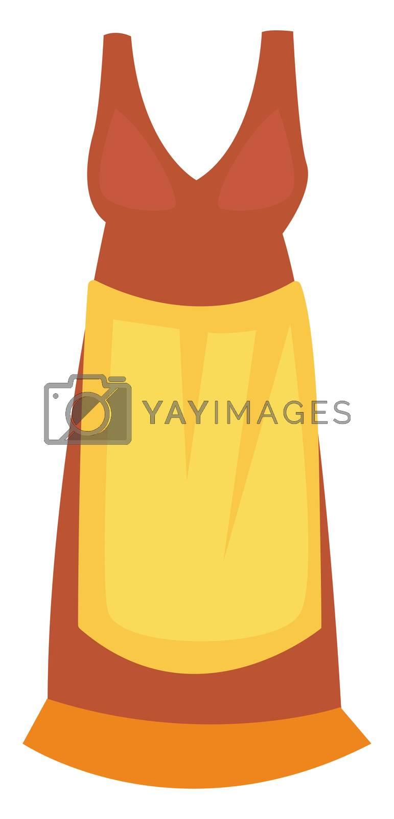 Kitchen apron, illustration, vector on white background