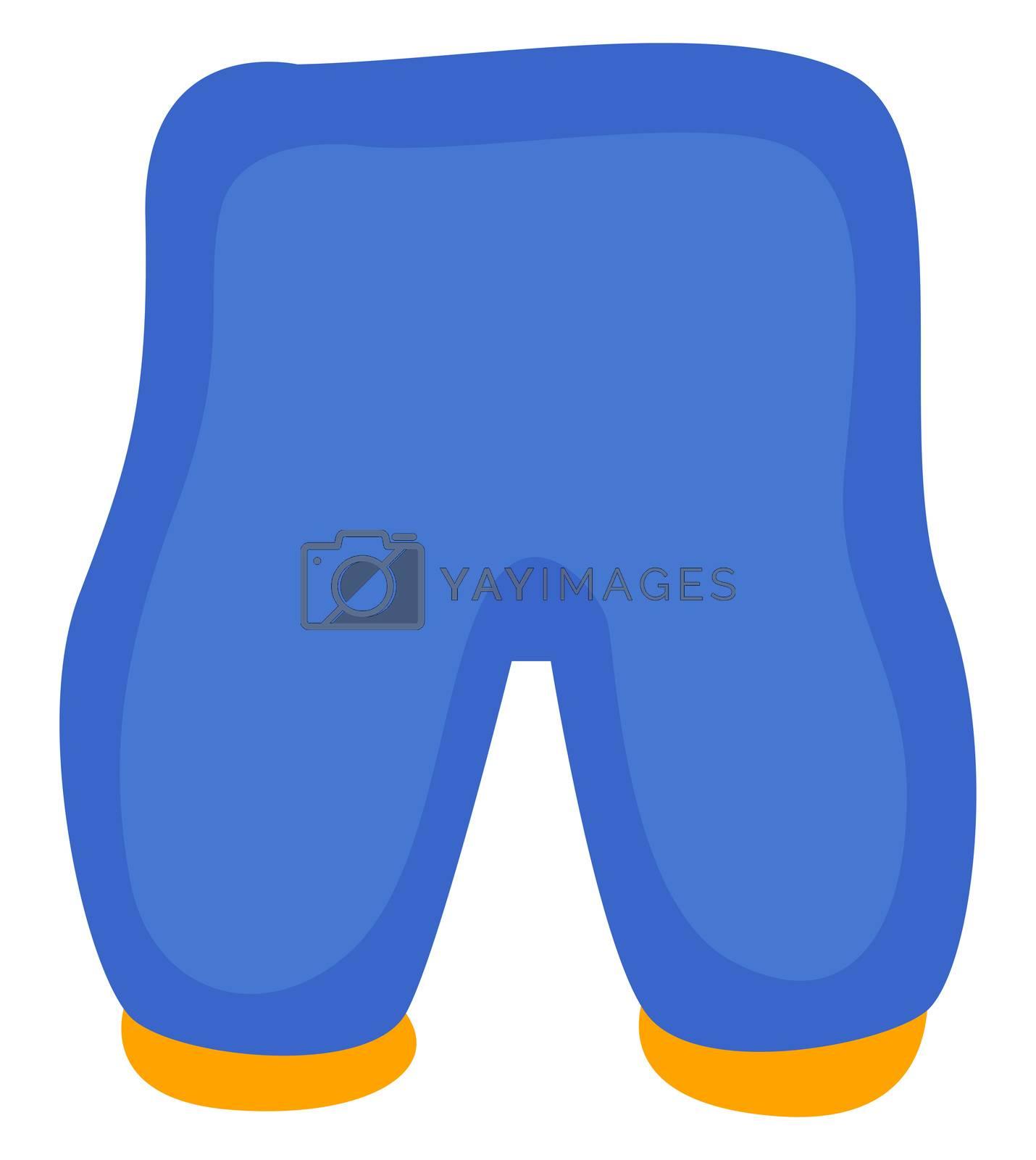 Blue shorts, illustration, vector on white background