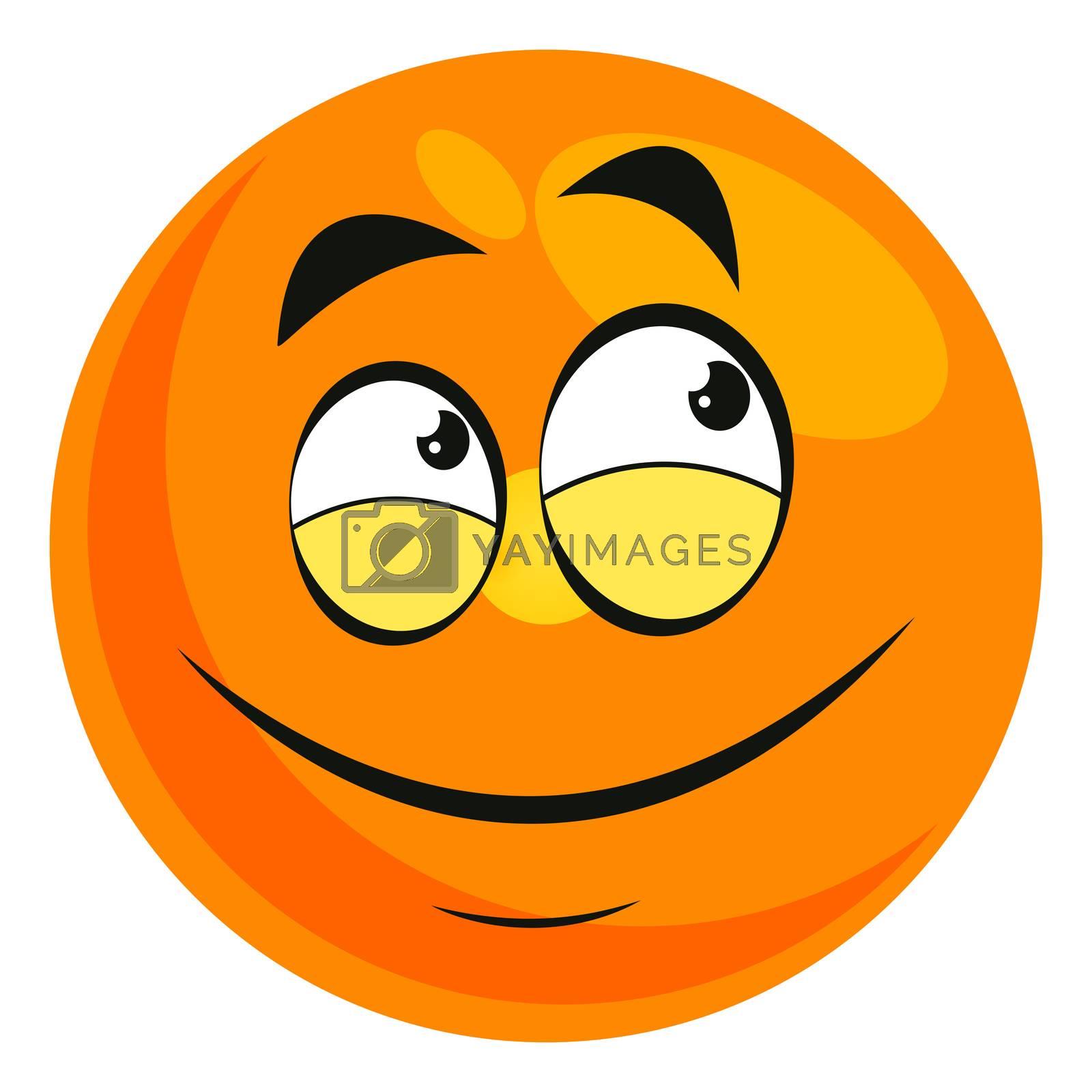 Proud emoji, illustration, vector on white background