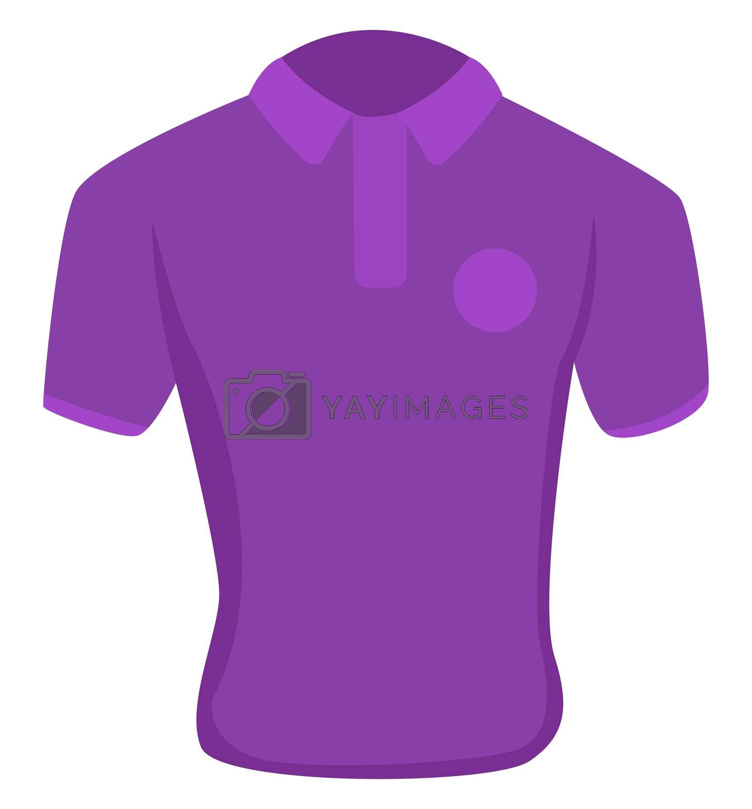 Man purple shirt, illustration, vector on white background