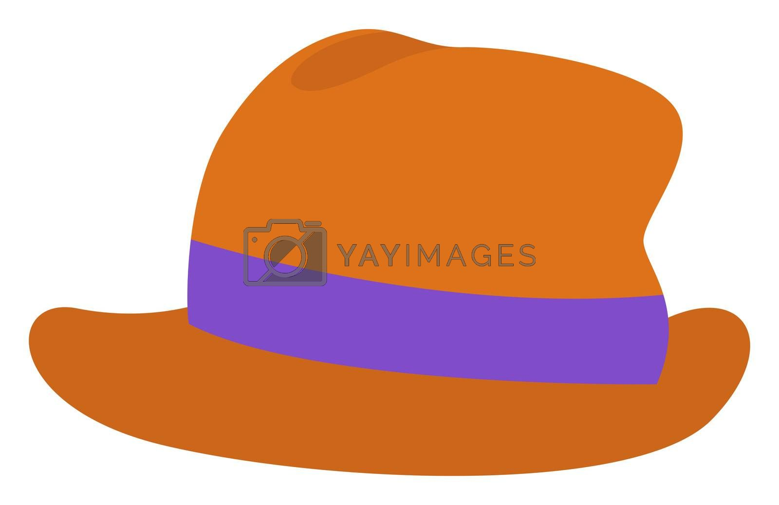 Man brown hat, illustration, vector on white background