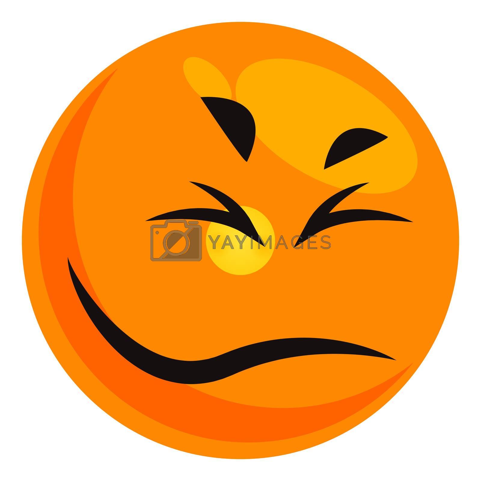Disgusting emoji, illustration, vector on white background