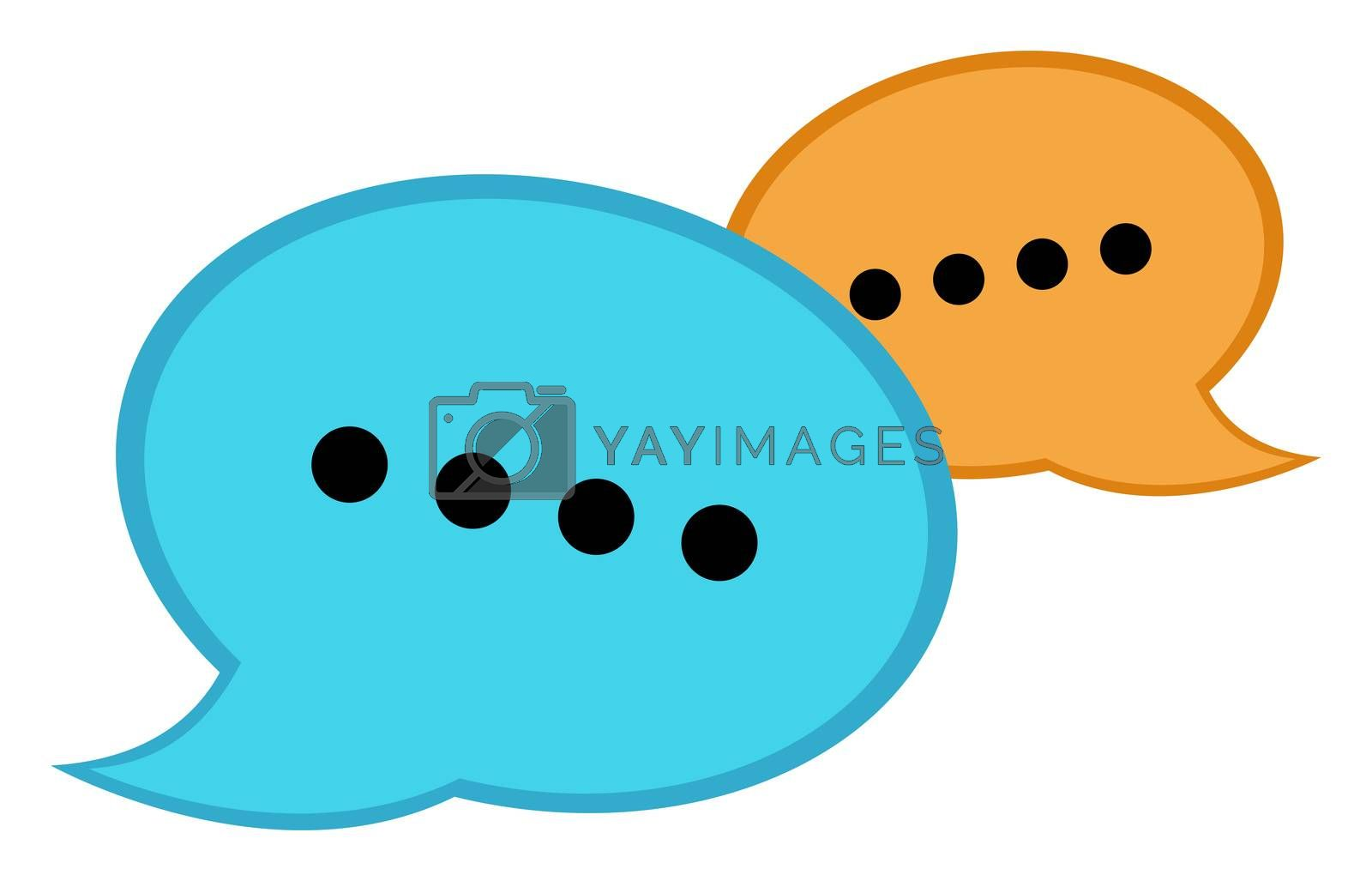 Chat bubble, illustration, vector on white background