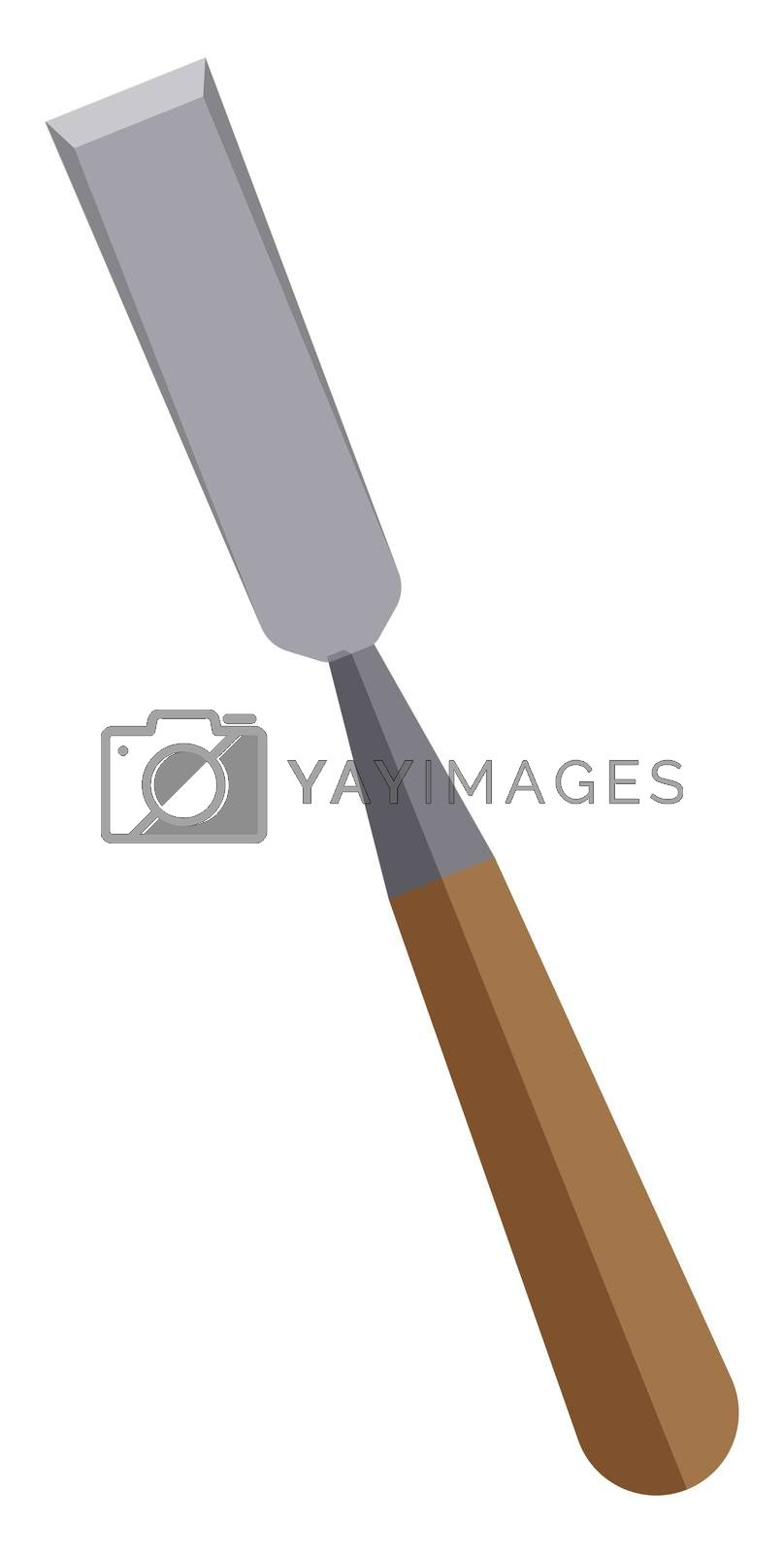 Chisel tool, illustration, vector on white background