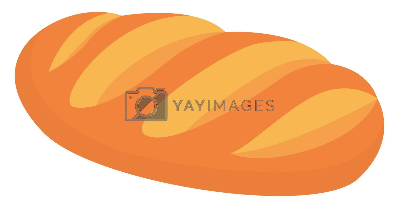 Fresh bread, illustration, vector on white background