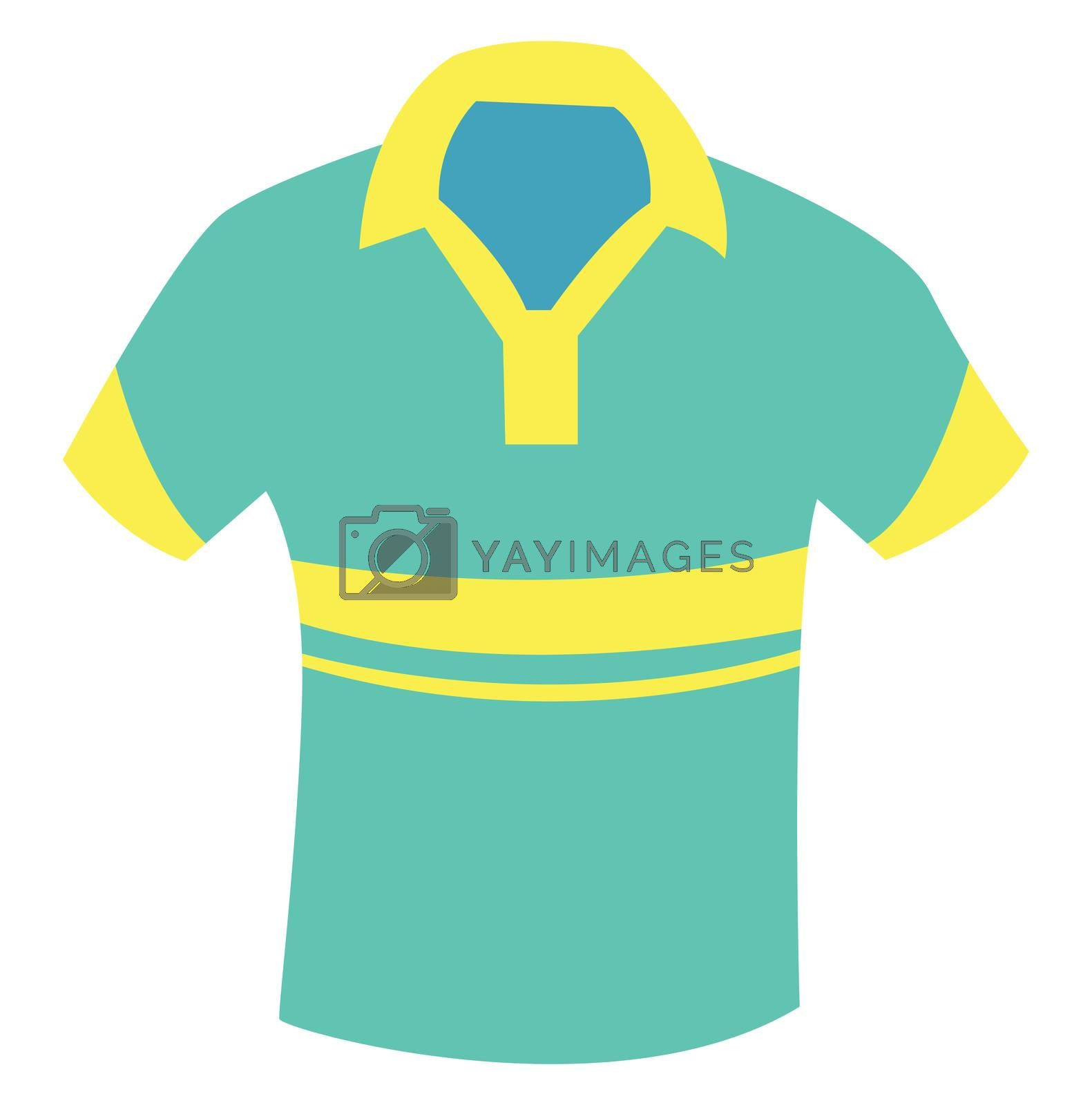 Summer man shirt, illustration, vector on white background
