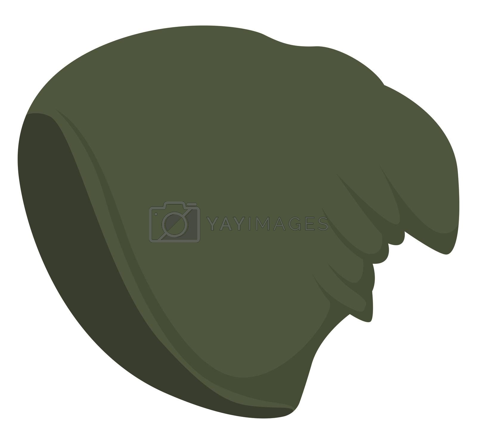 Green man hat, illustration, vector on white background