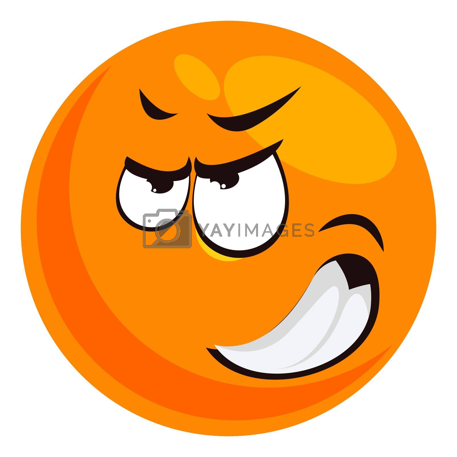 Royalty free image of Angry emoji, illustration, vector on white background by Morphart