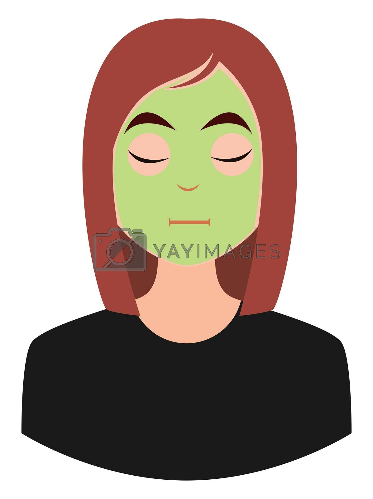 Royalty free image of Girl with face mask, illustration, vector on white background by Morphart