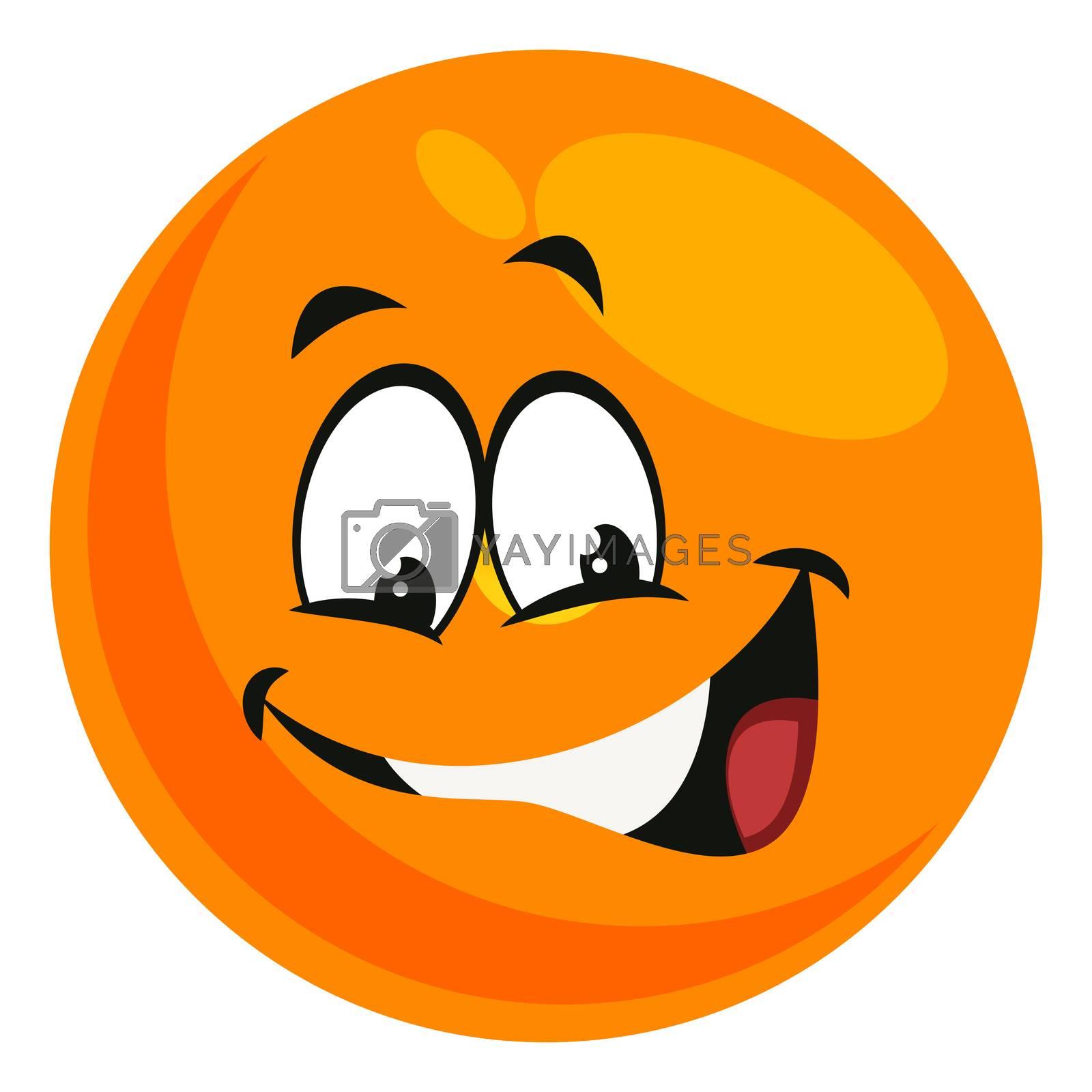 Smiling emoji, illustration, vector on white background