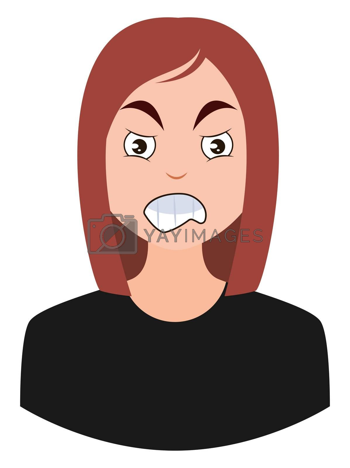 Royalty free image of Pissed off girl, illustration, vector on white background by Morphart