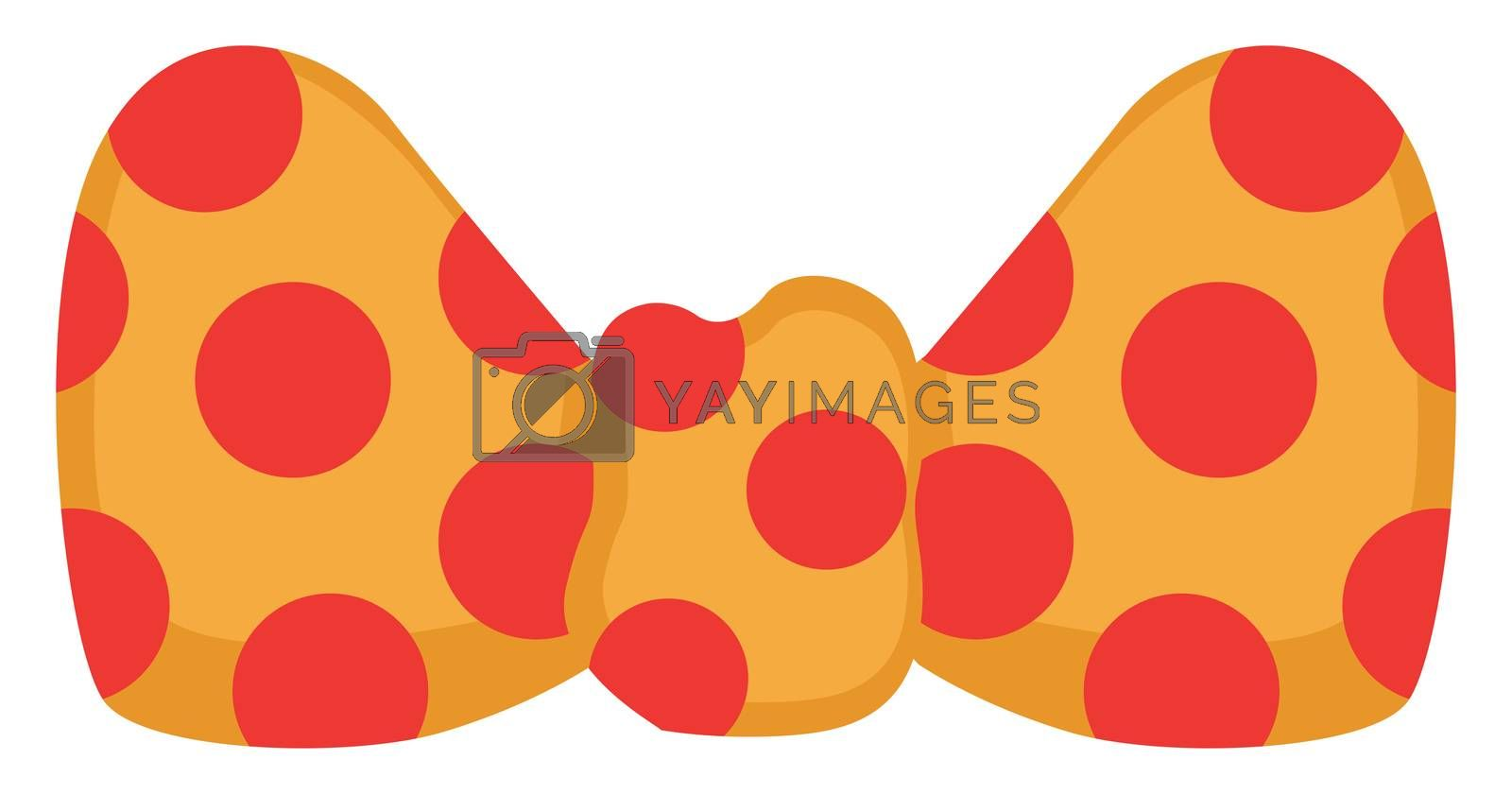 Clown bow, illustration, vector on white background