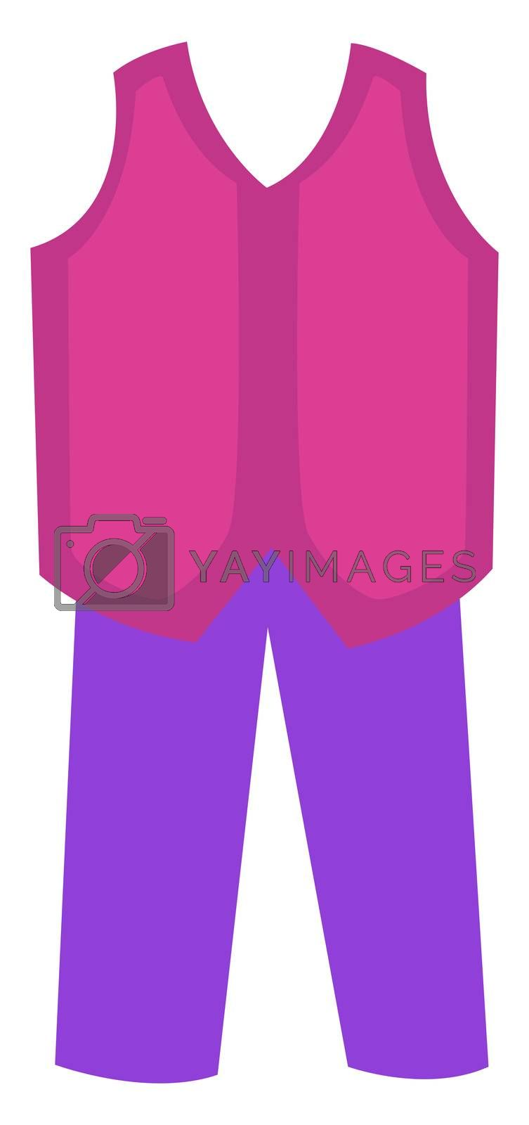Royalty free image of Woman pink suit, illustration, vector on white background by Morphart