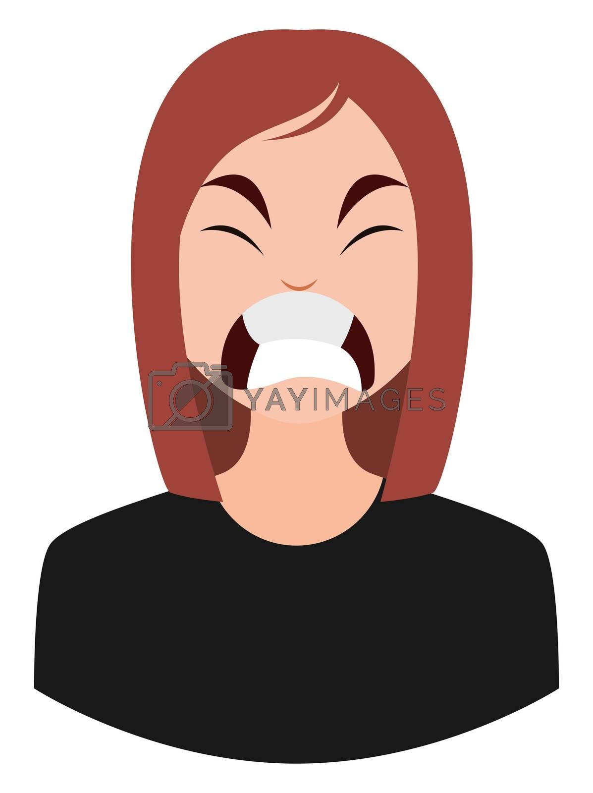 Royalty free image of Angry girl, illustration, vector on white background by Morphart