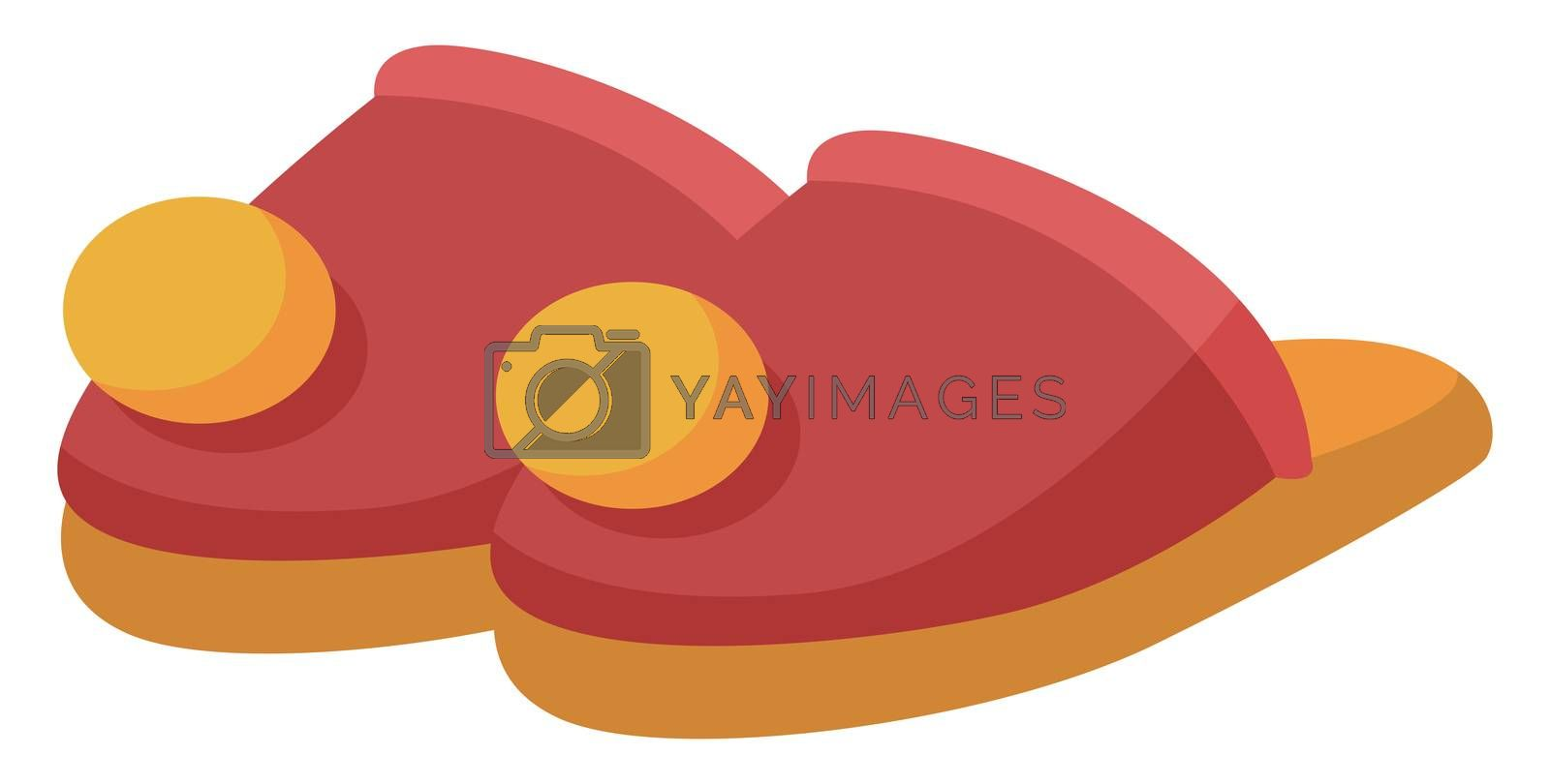 House shoes, illustration, vector on white background
