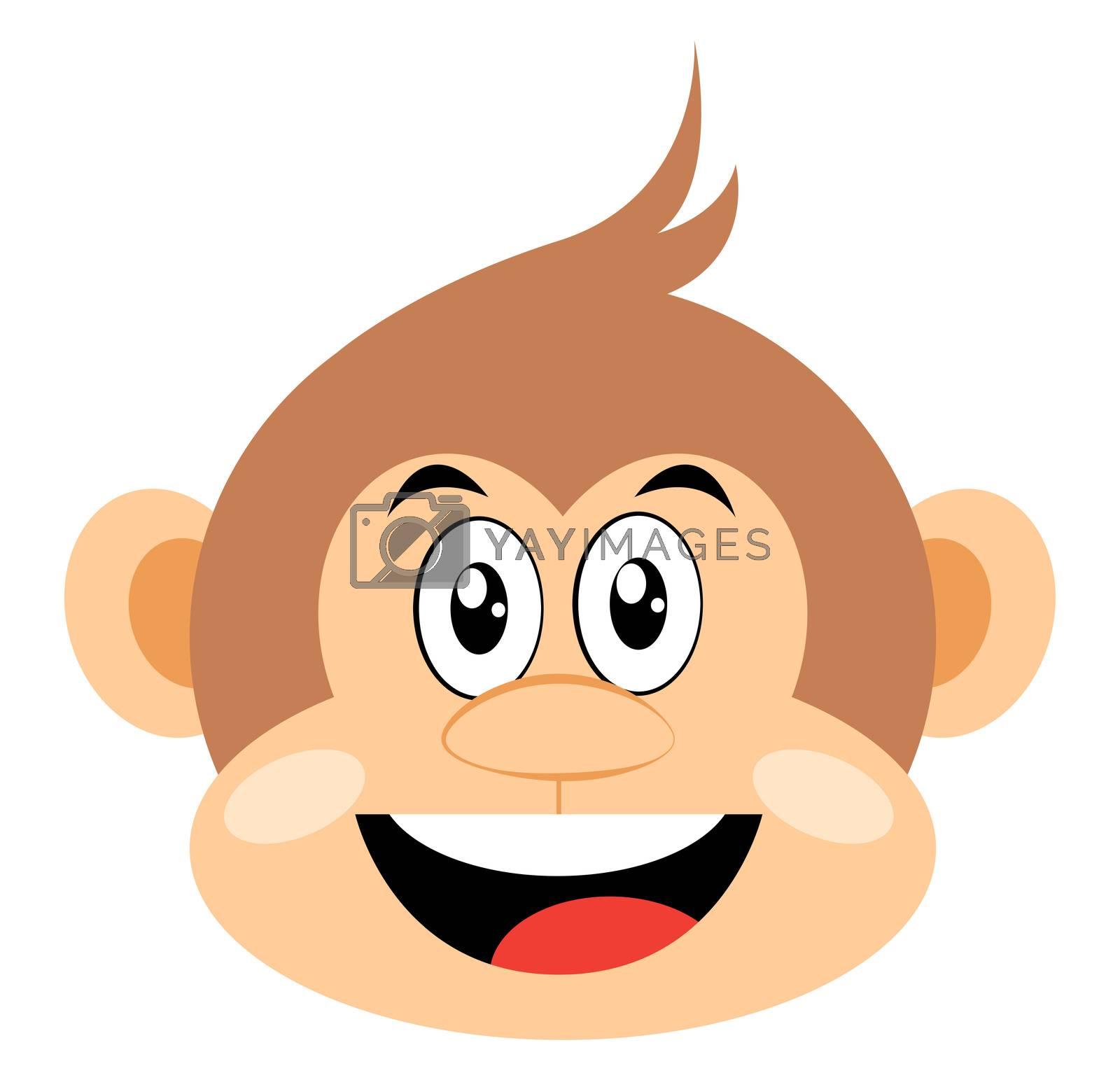 Happy monkey, illustration, vector on white background