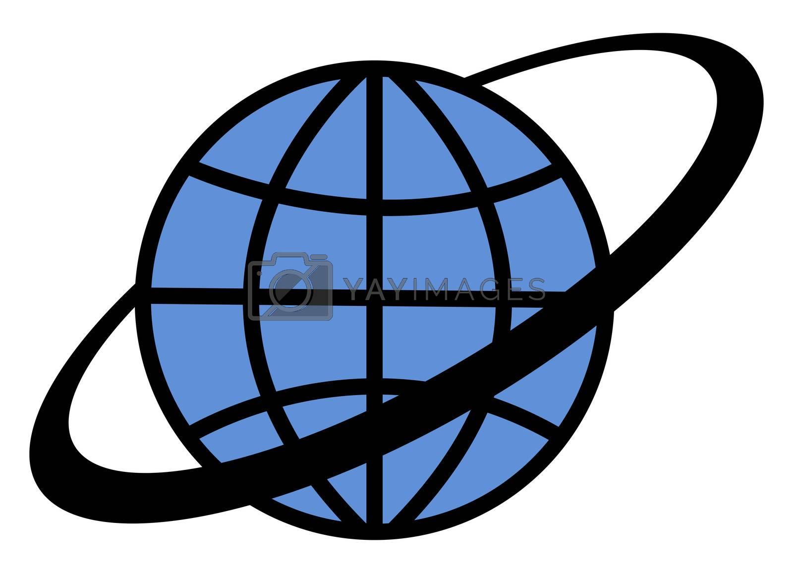 Globalization globe, illustration, vector on white background
