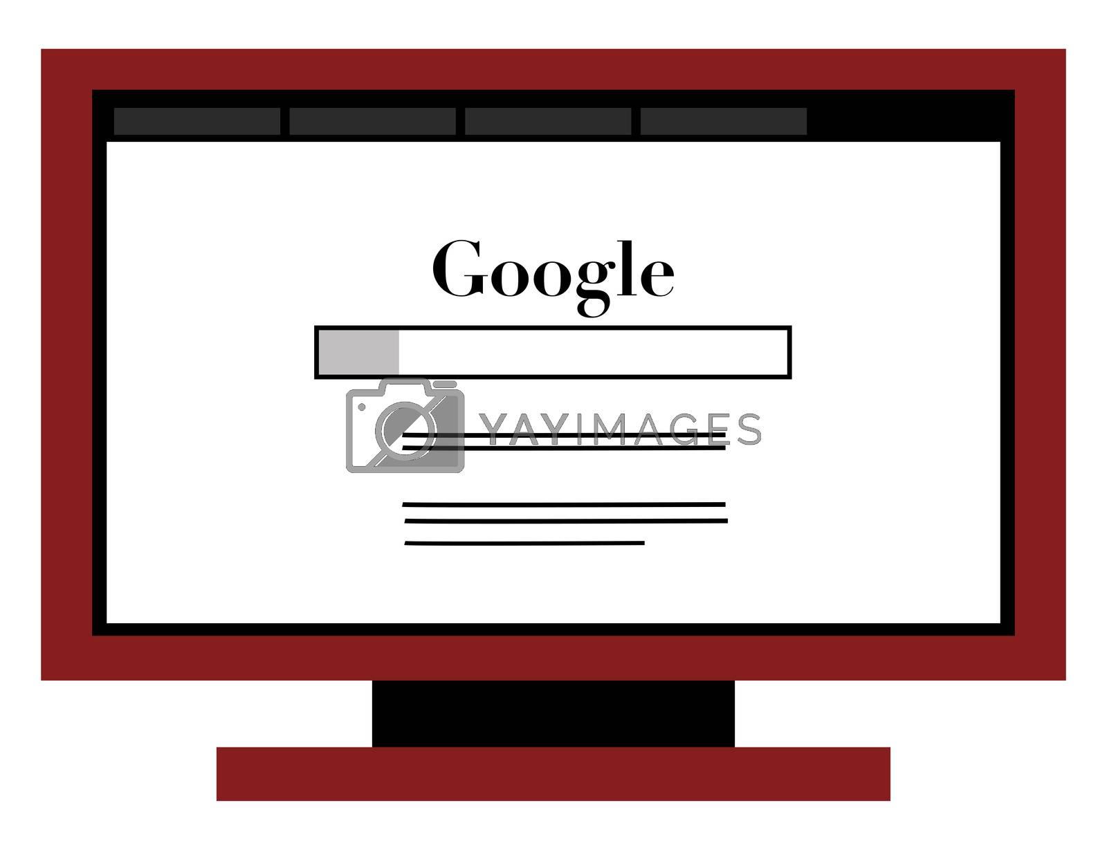 Google internet site, illustration, vector on white background