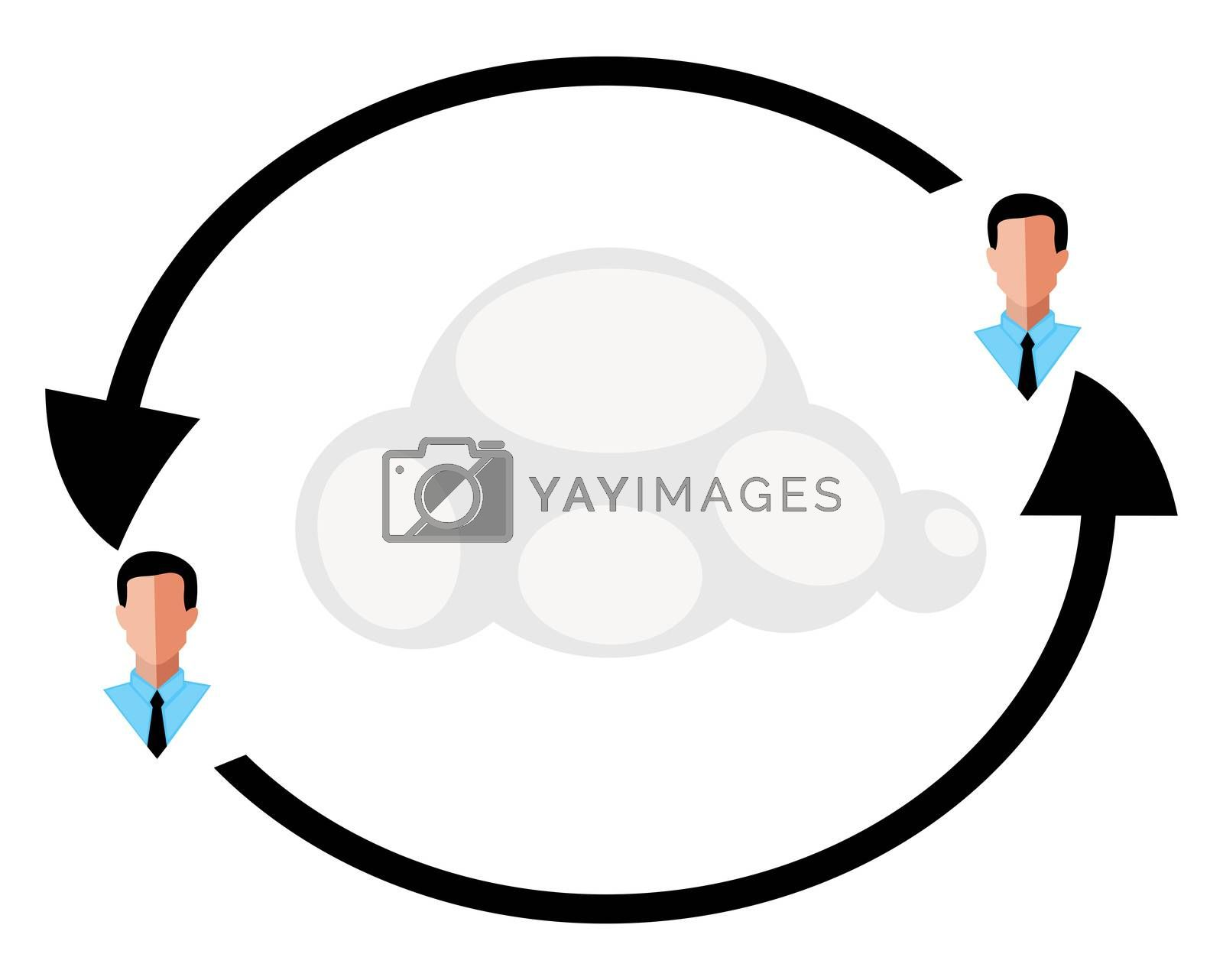 Networking circle, illustration, vector on white background