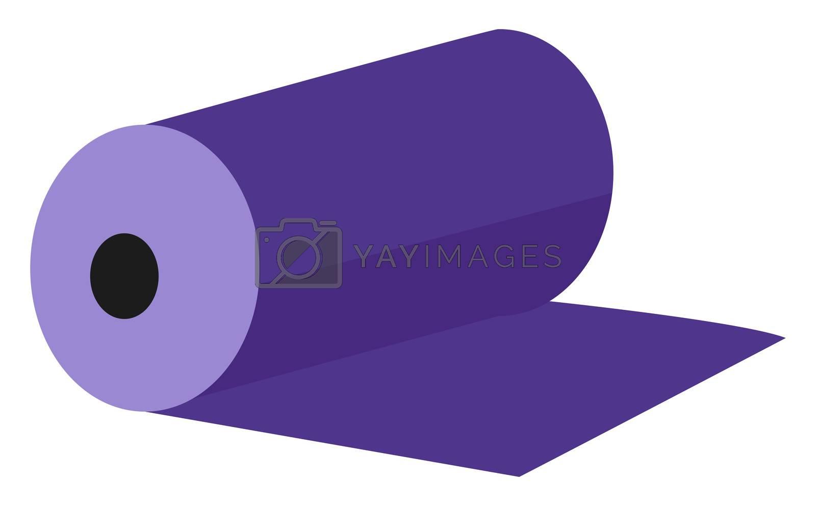 Purple mat, illustration, vector on white background