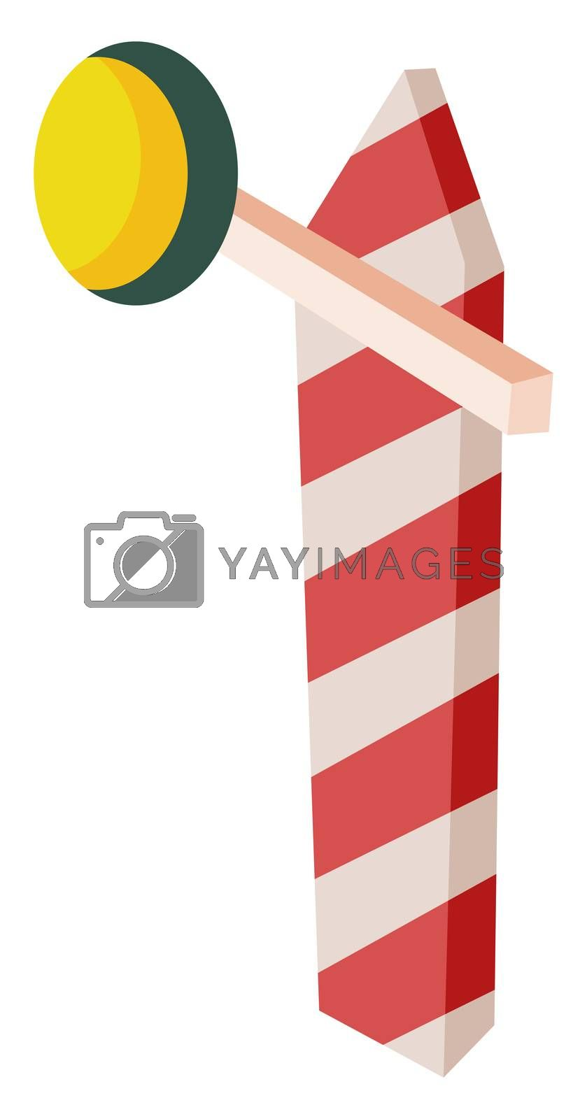 Road barrier, illustration, vector on white background