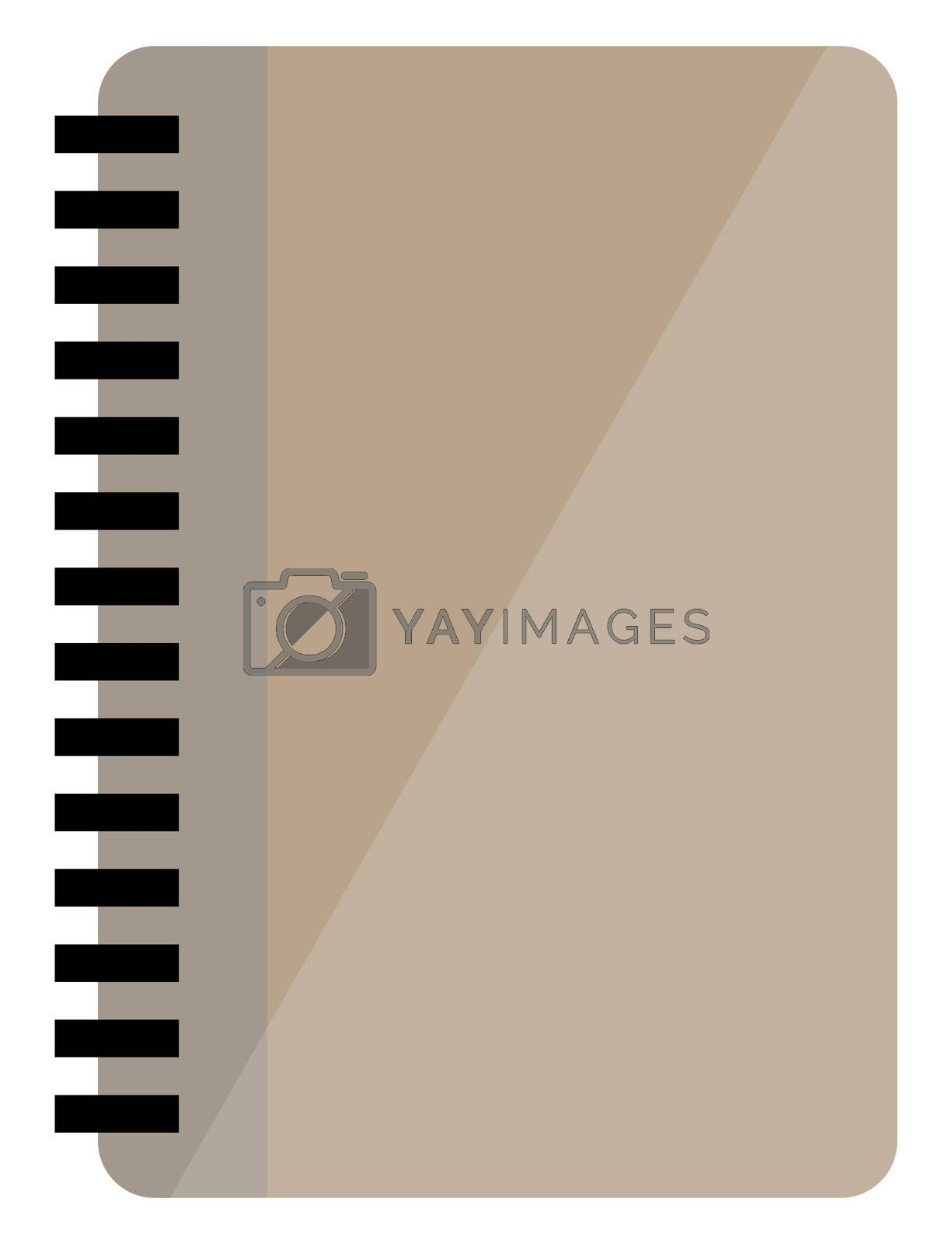 Closed notebook, illustration, vector on white background