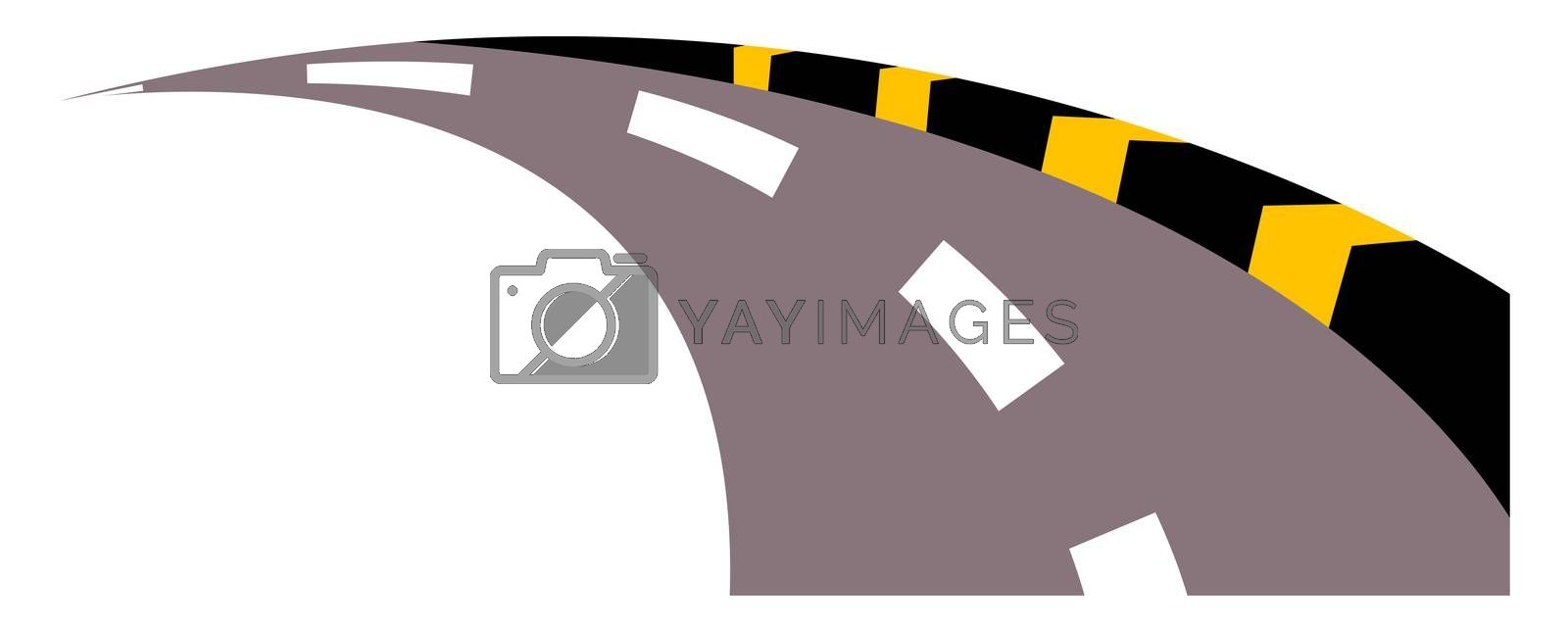 Street road, illustration, vector on white background