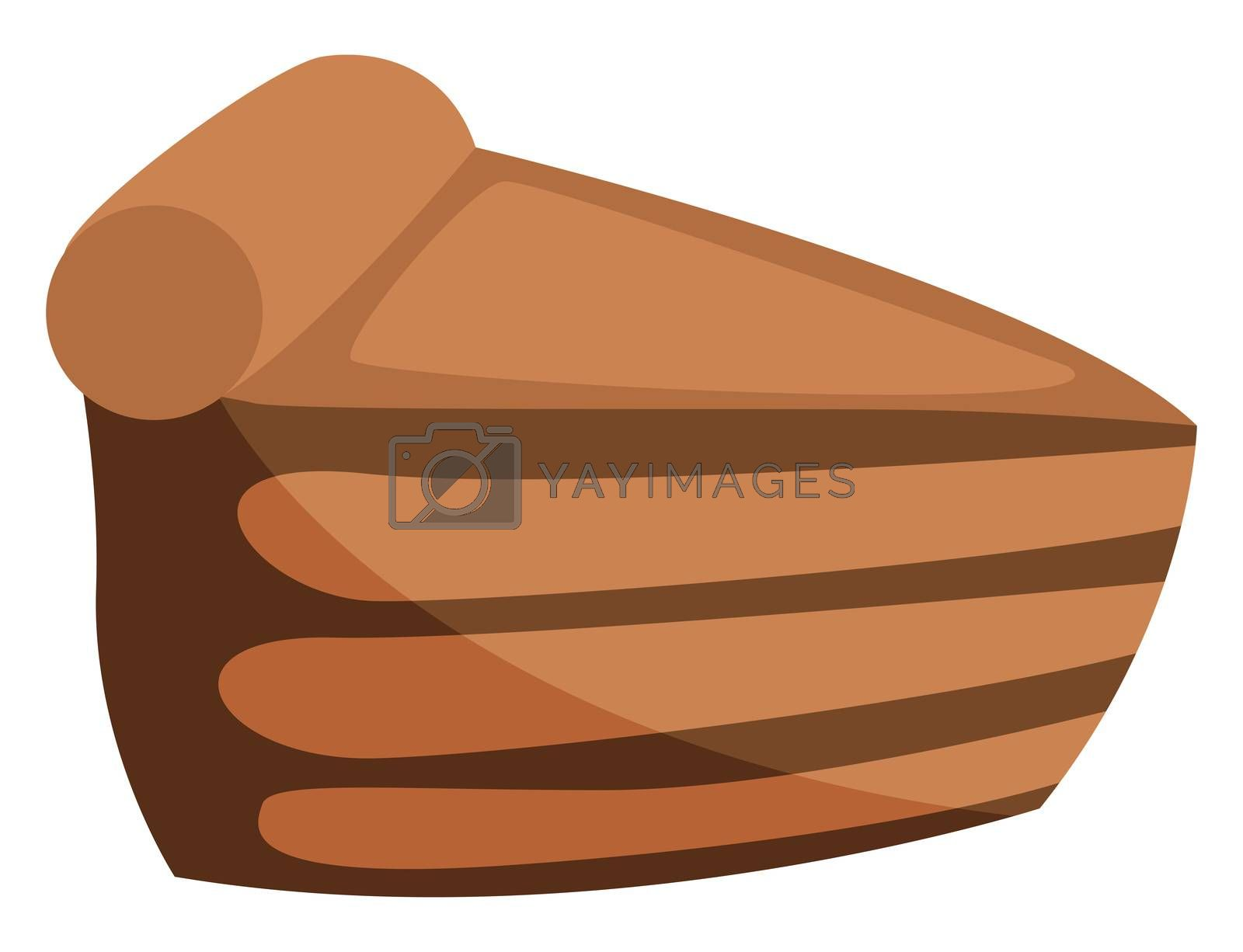 Pastry, illustration, vector on white background