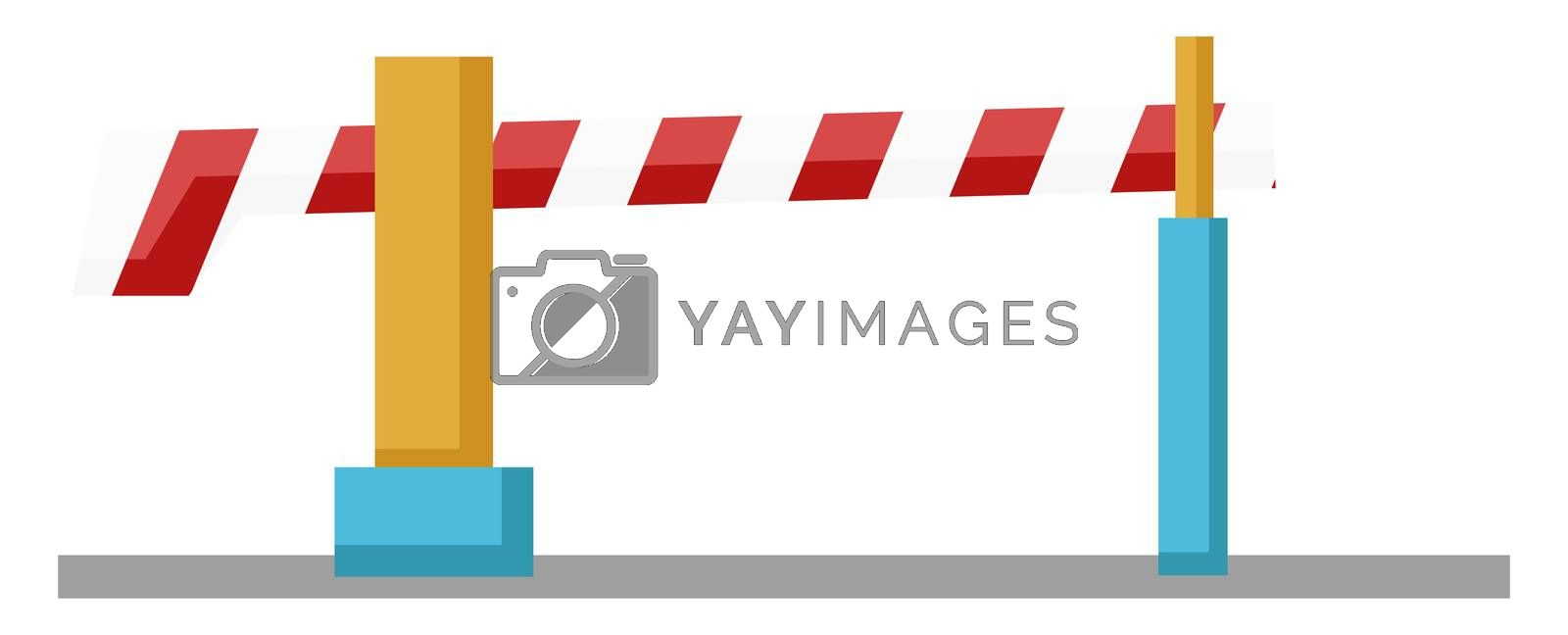 Train ramp, illustration, vector on white background