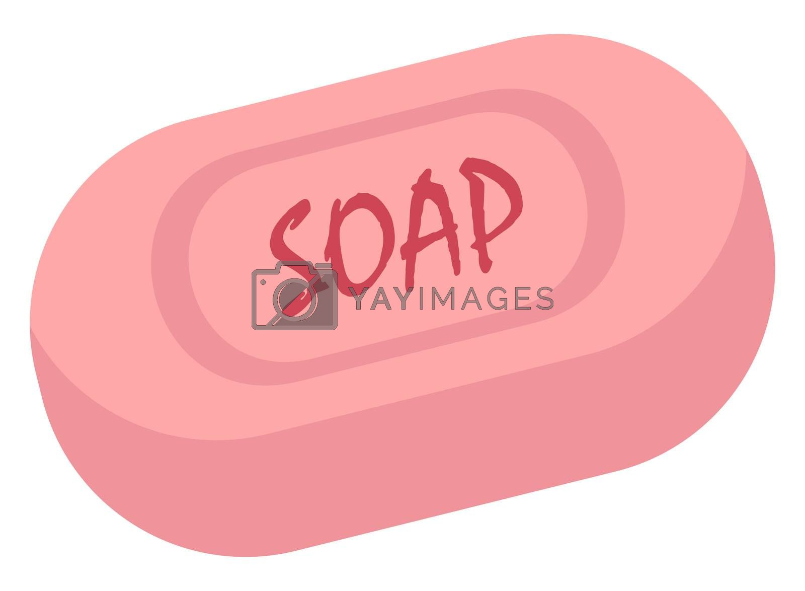 Hand  soap, illustration, vector on white background