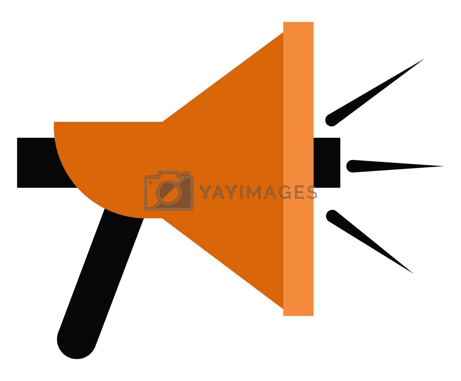 Big speaker, illustration, vector on white background
