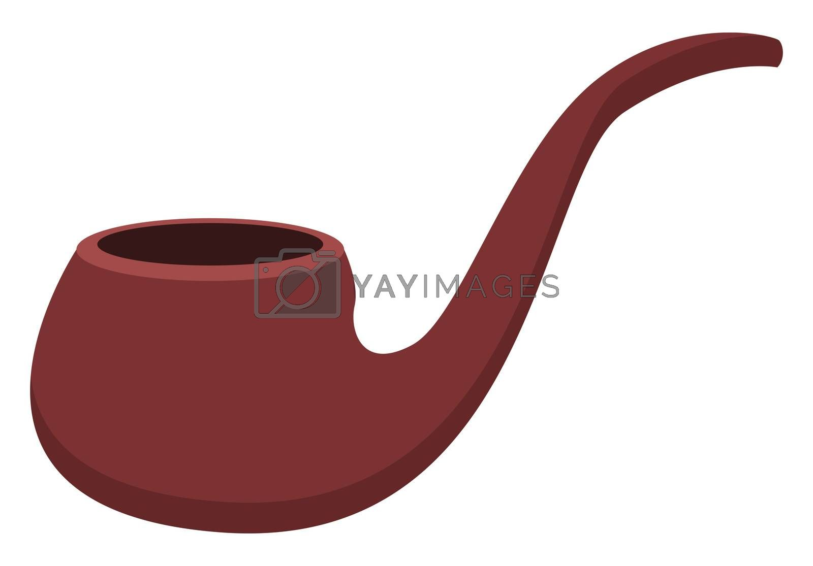 Smoking pipe, illustration, vector on white background