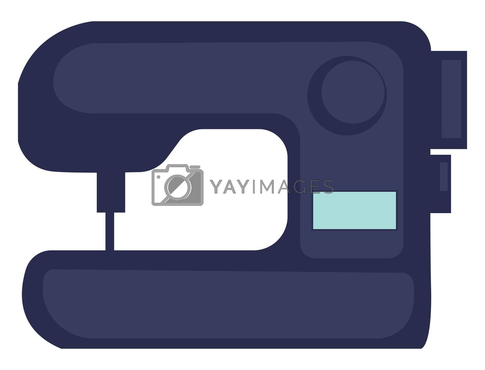 Sewing machine, illustration, vector on white background