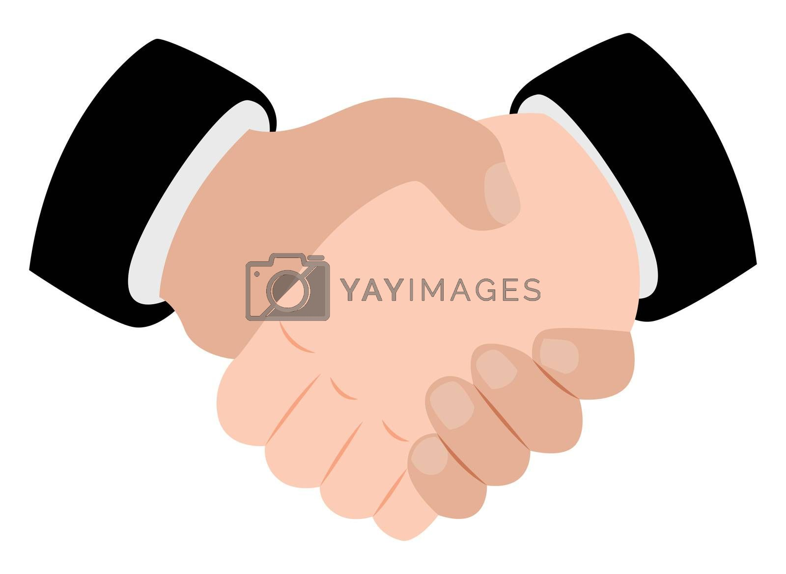Hand shake, illustration, vector on white background