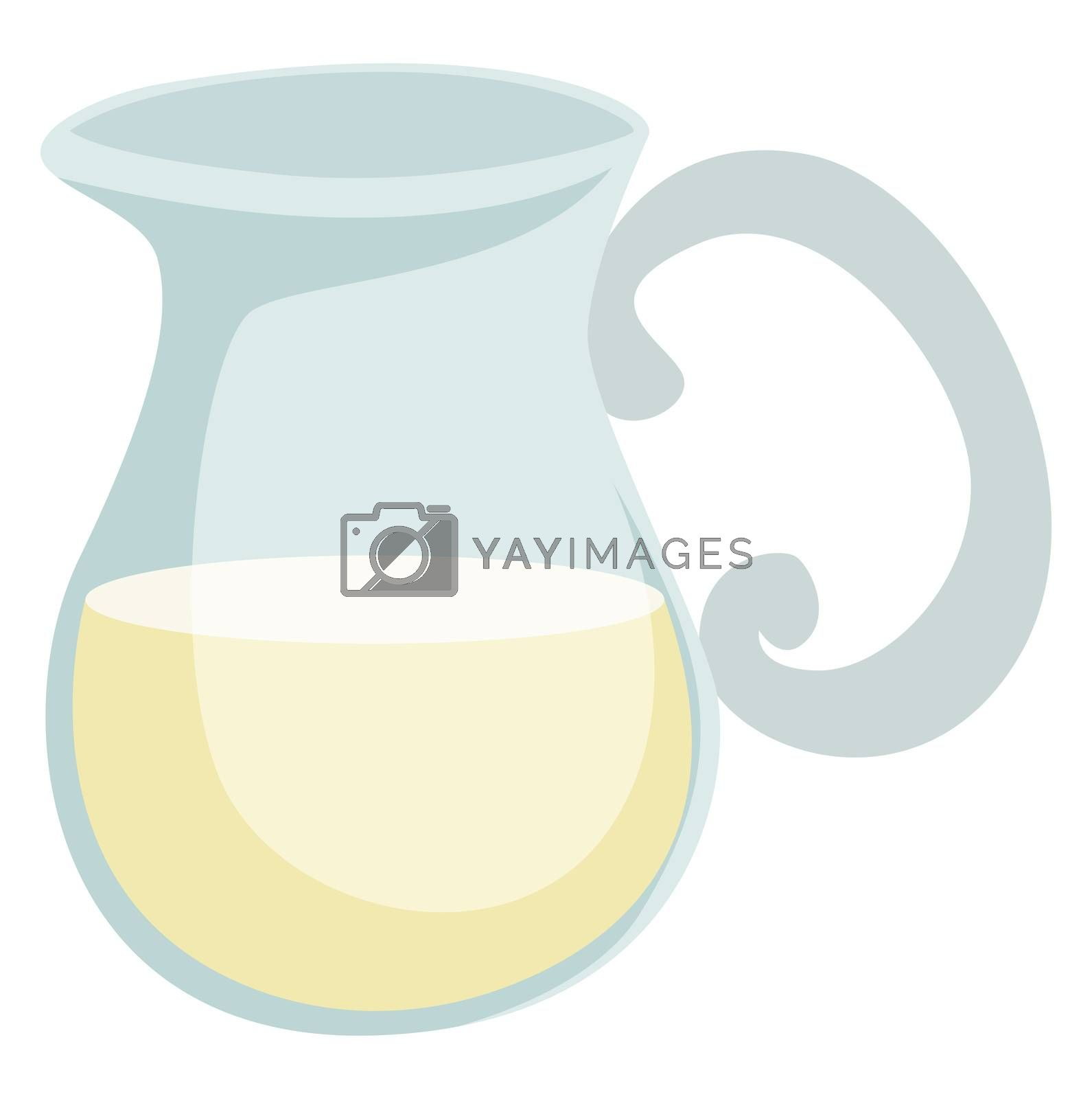 Milk in jug, illustration, vector on white background