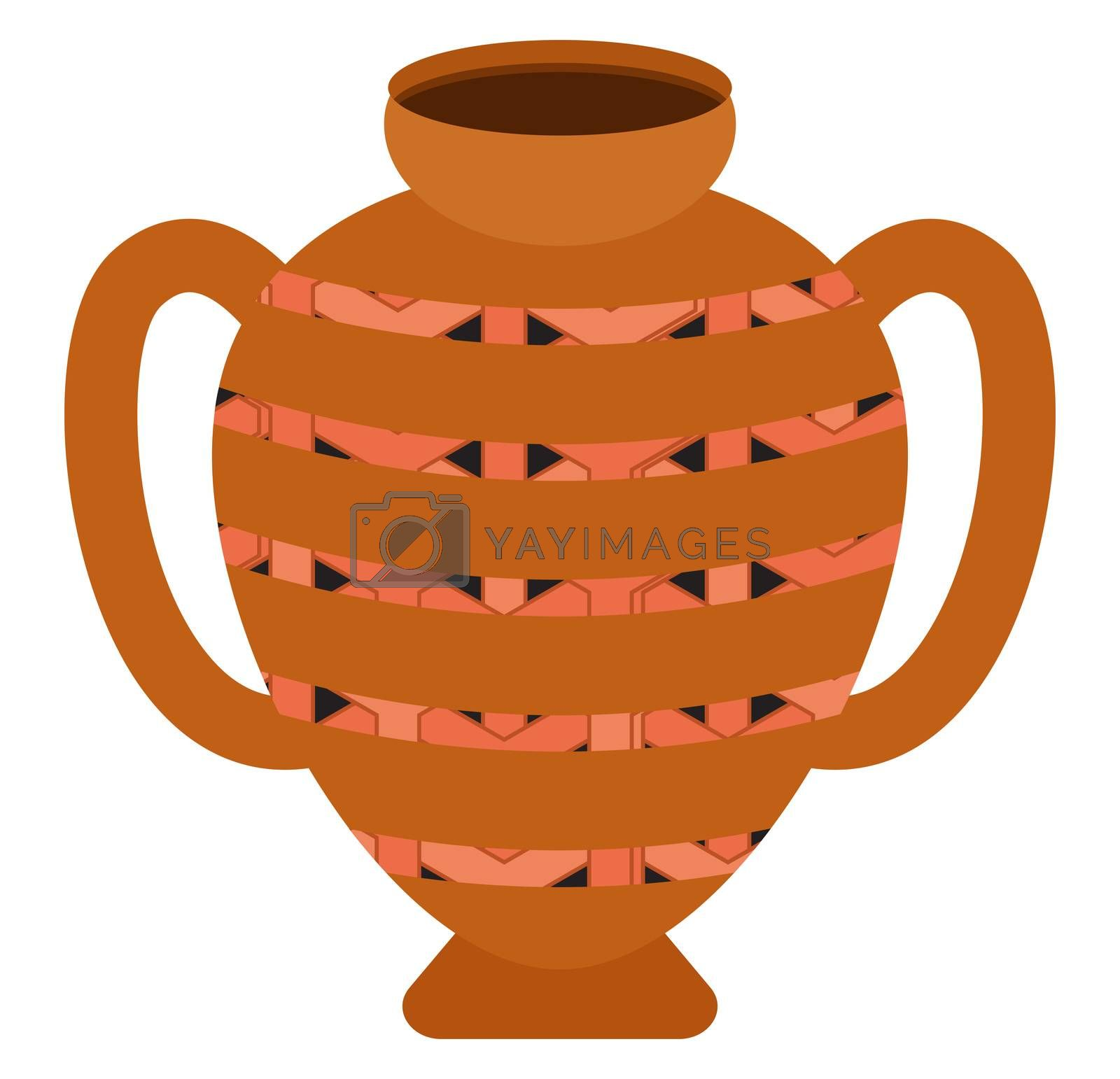 Old vase, illustration, vector on white background