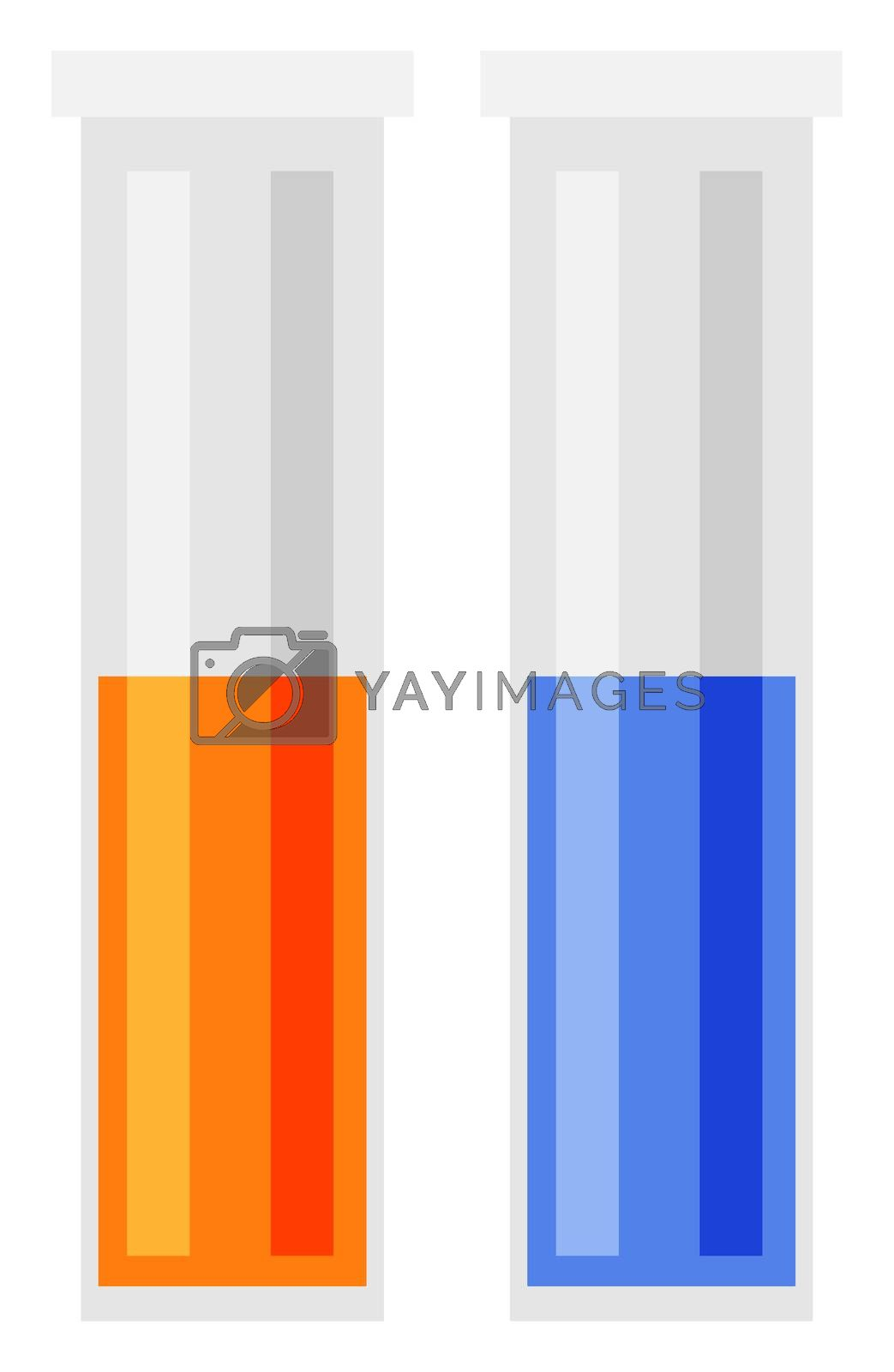 Tests tubes, illustration, vector on white background