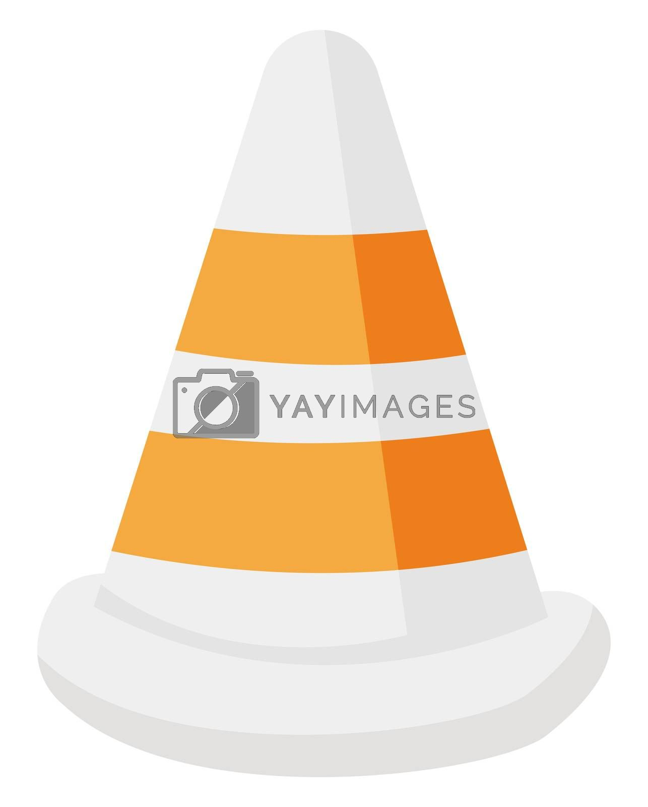 Traffic cone, illustration, vector on white background