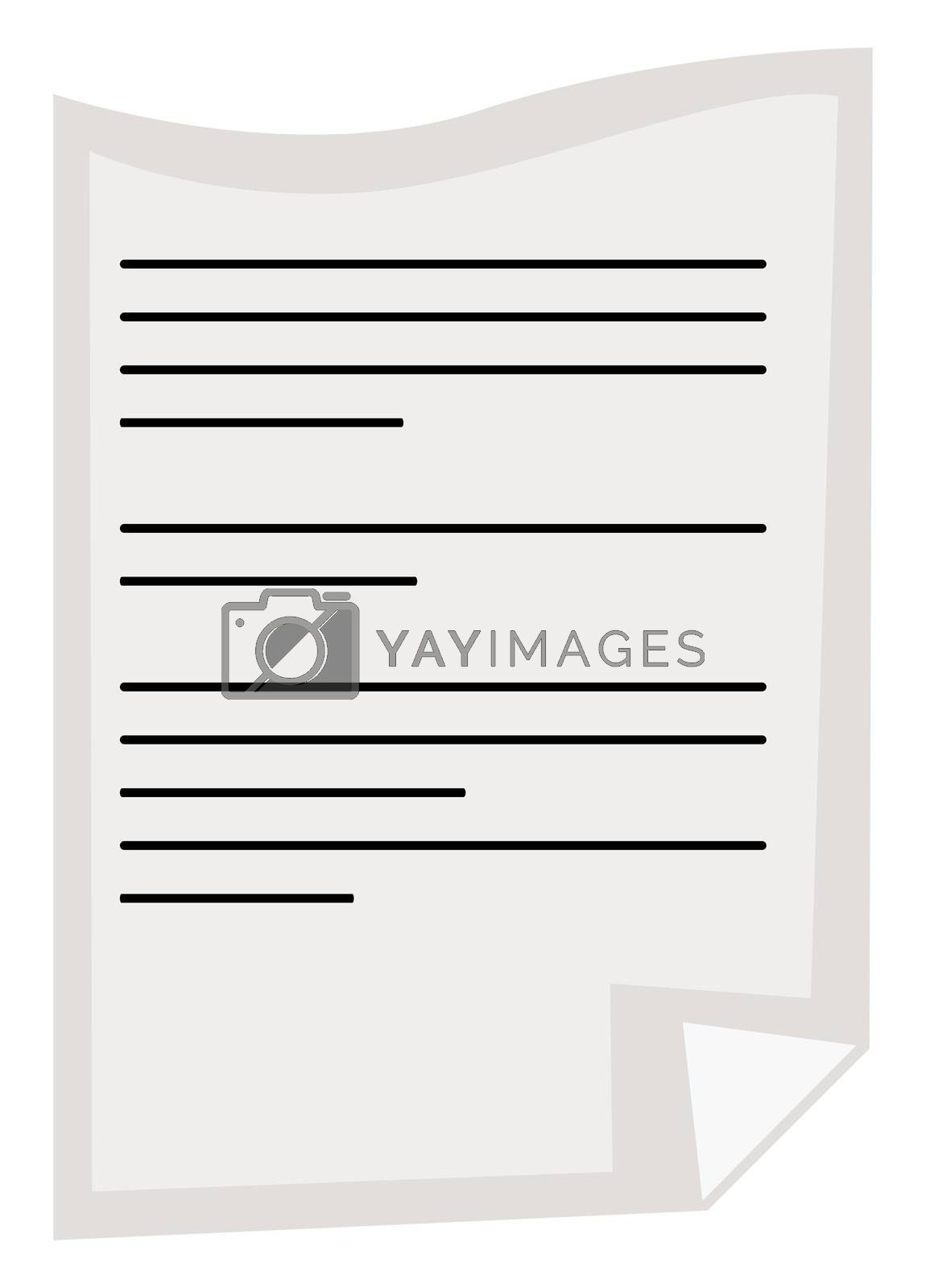 Royalty free image of Notes on paper, illustration, vector on white background by Morphart