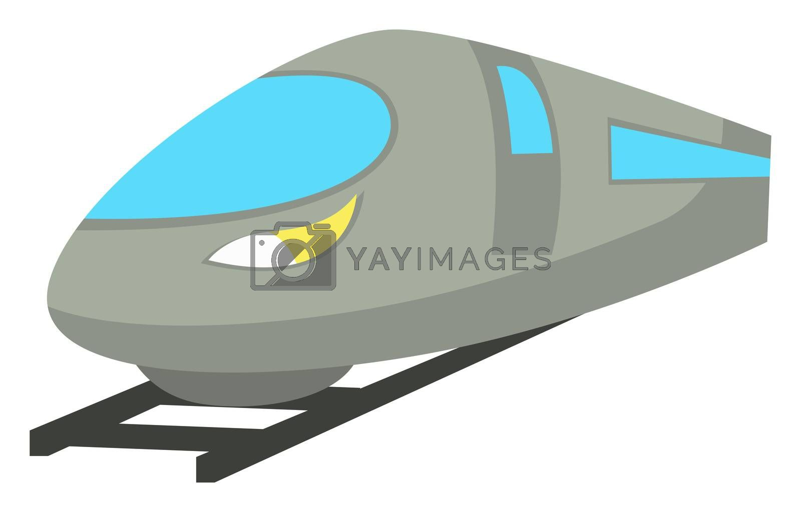 Fast train, illustration, vector on white background