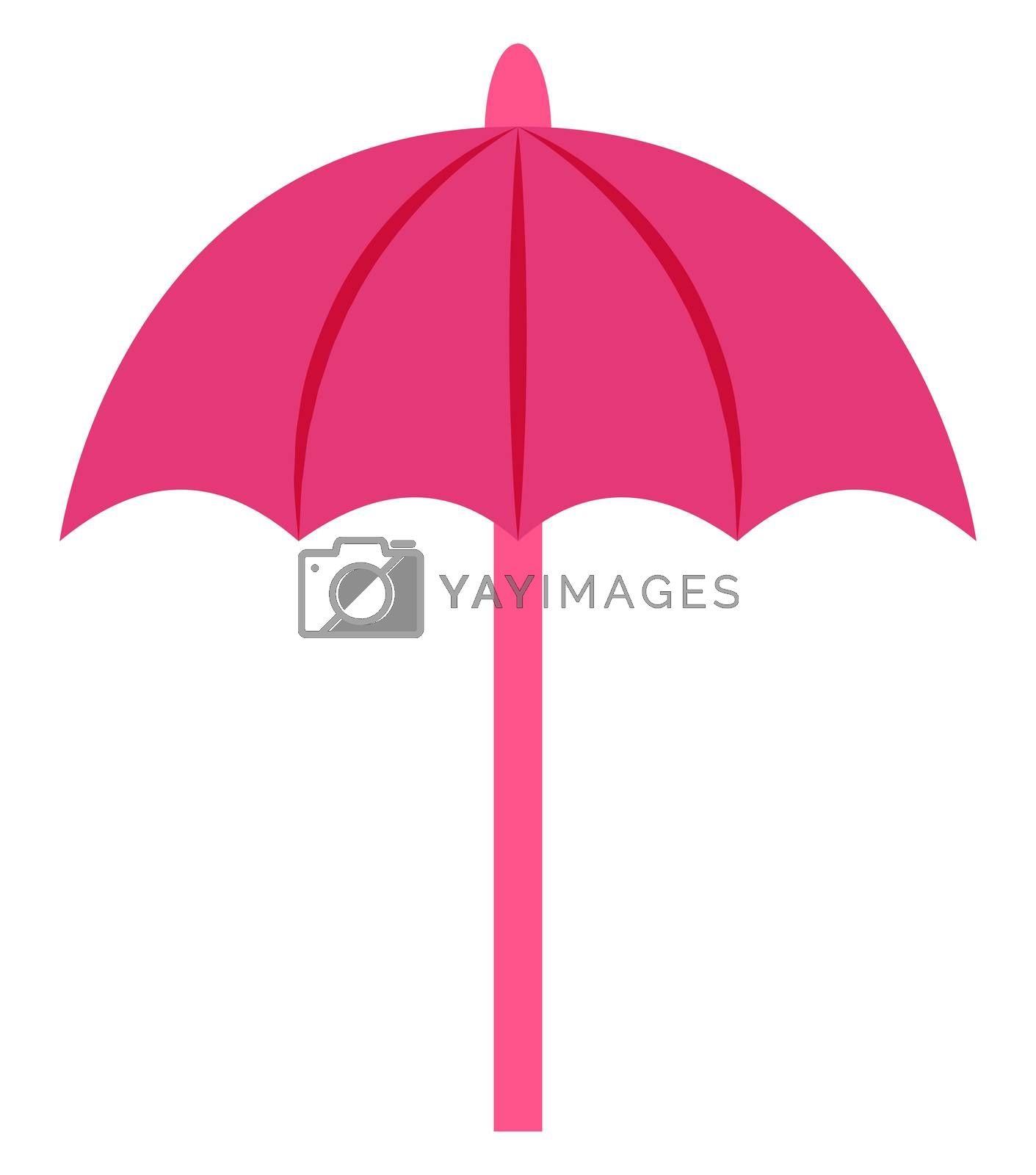 Pink umbrella, illustration, vector on white background