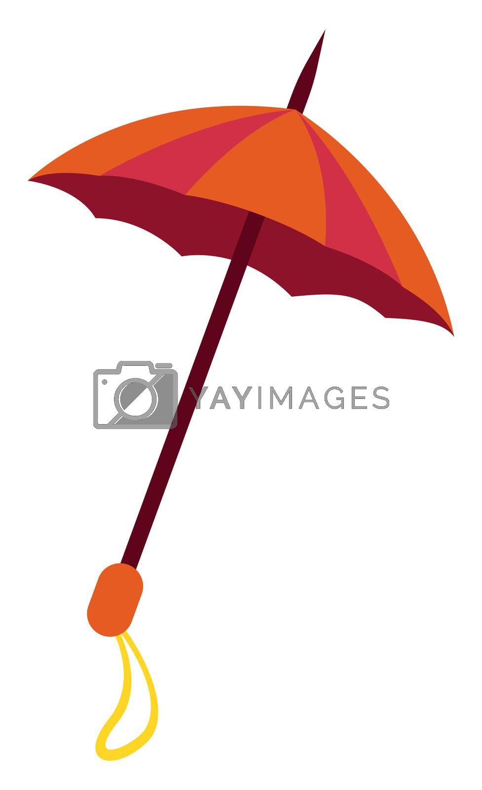 Red umbrella, illustration, vector on white background