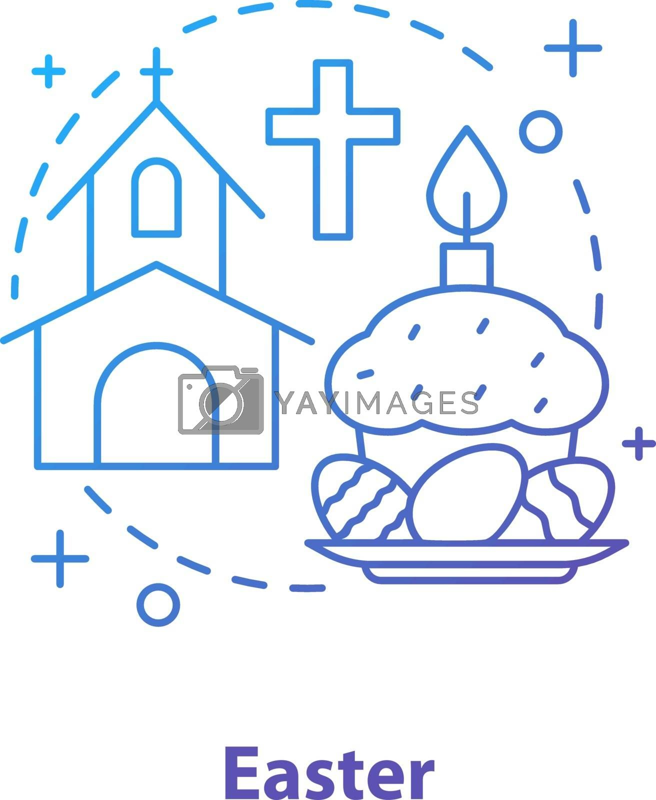 Easter concept icon by bsd