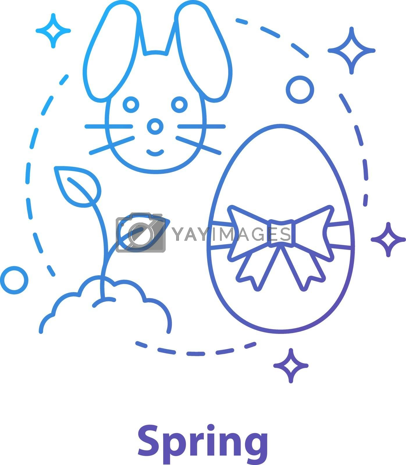 Spring season concept icon by bsd