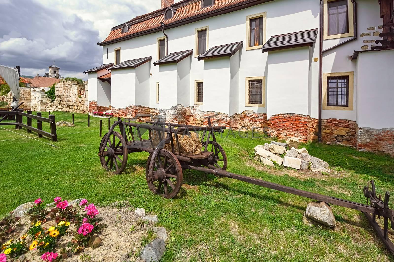 Inside of Alba Carolina Citadel, Alba Iulia, Romania