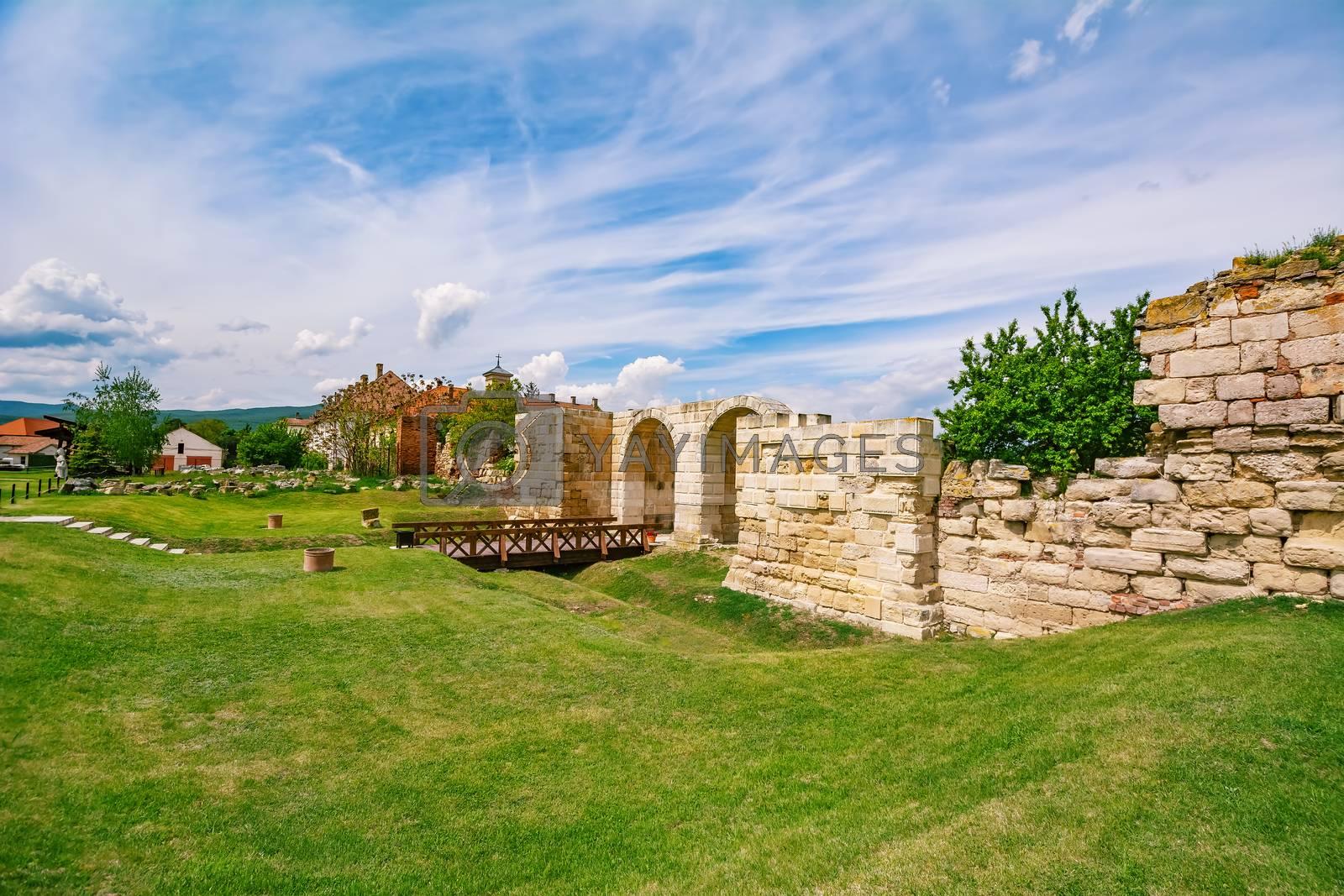 Ruins of an Old Fortress Wall of Alba Carolina Citadel, Alba Iulia, Romania