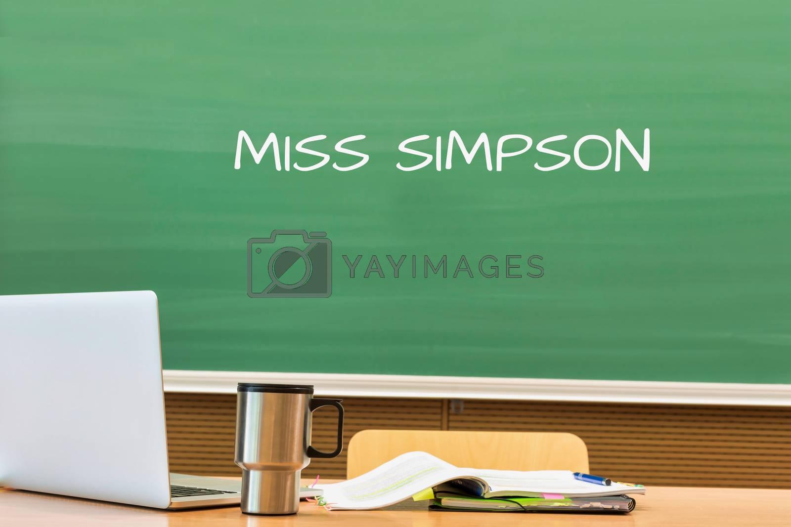Back to School written on black board in classroom