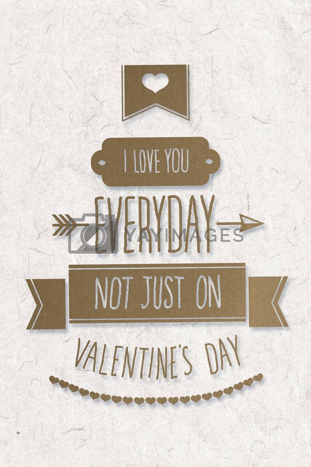 I love you everyday against parchment