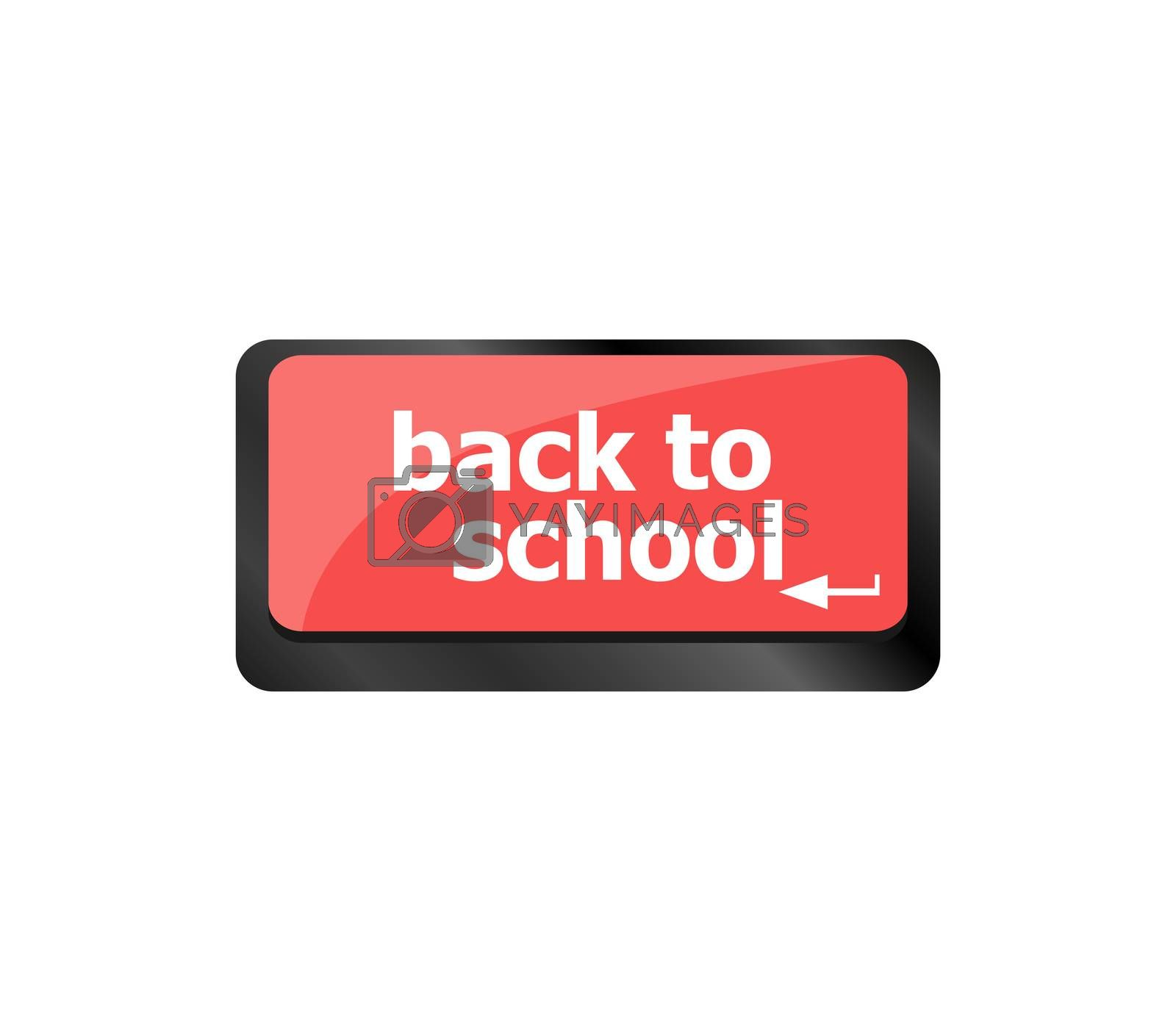 Back to school key on computer keyboard